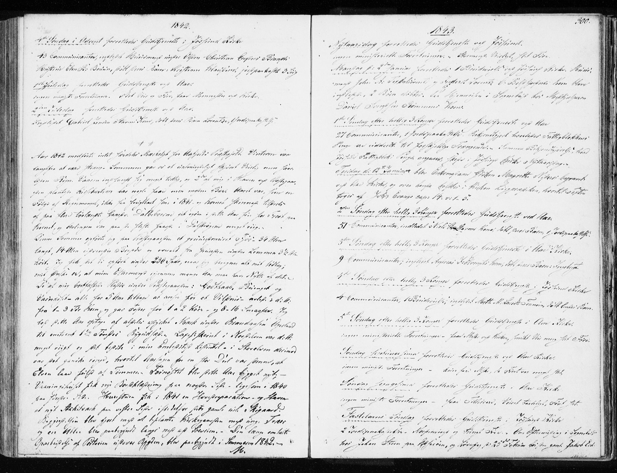 SAT, Ministerialprotokoller, klokkerbøker og fødselsregistre - Sør-Trøndelag, 655/L0676: Ministerialbok nr. 655A05, 1830-1847, s. 300