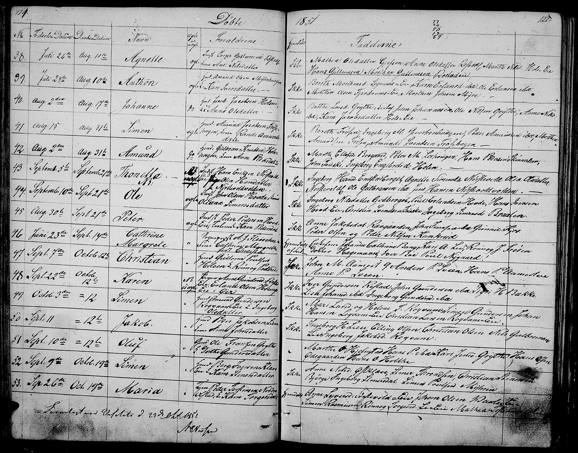 SAH, Gausdal prestekontor, Klokkerbok nr. 3, 1829-1864, s. 121-122
