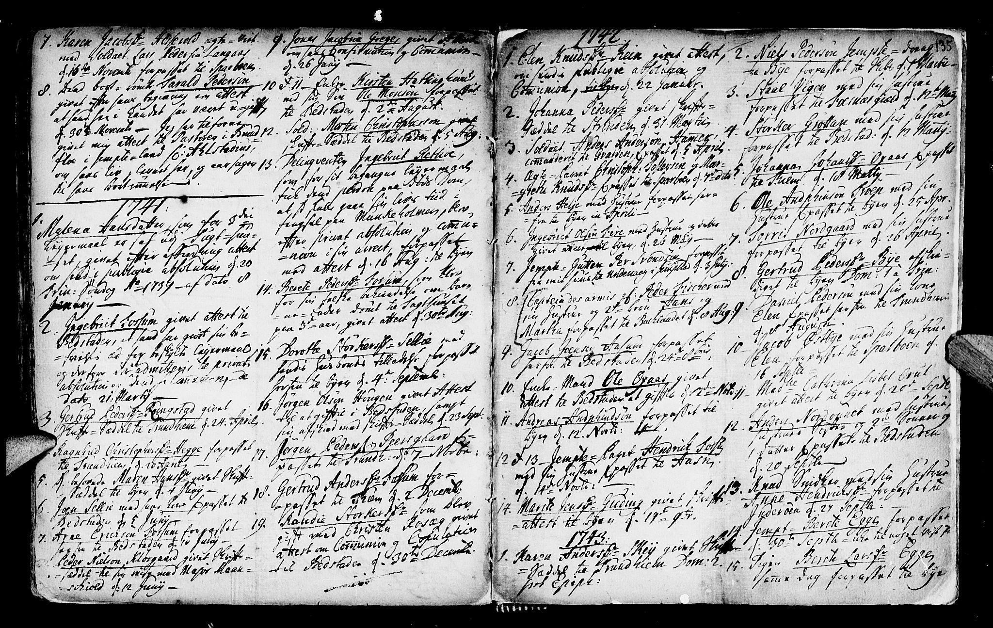 SAT, Ministerialprotokoller, klokkerbøker og fødselsregistre - Nord-Trøndelag, 746/L0439: Ministerialbok nr. 746A01, 1688-1759, s. 135