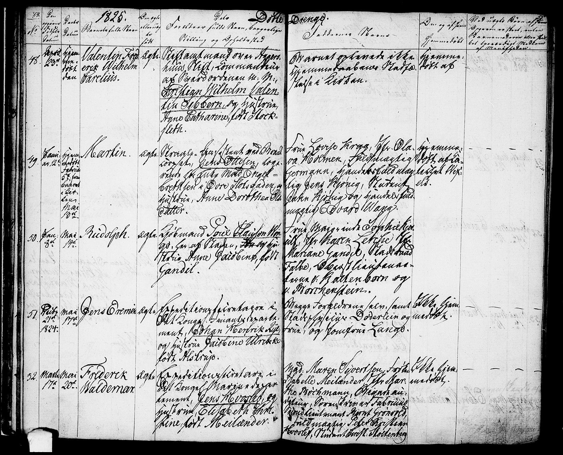 SAO, Oslo domkirke Kirkebøker, F/Fa/L0010: Ministerialbok nr. 10, 1824-1830, s. 54-55