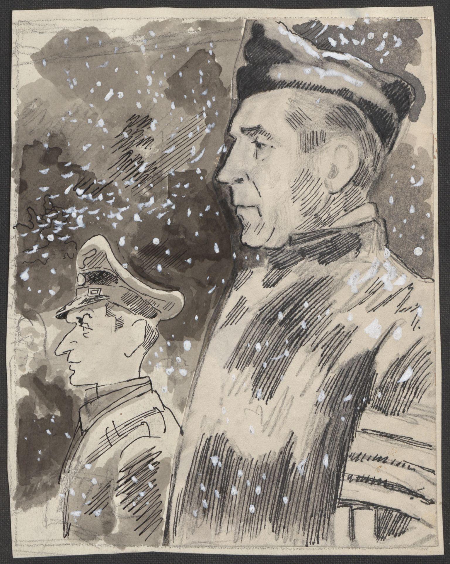 RA, Grøgaard, Joachim, F/L0002: Tegninger og tekster, 1942-1945, s. 74