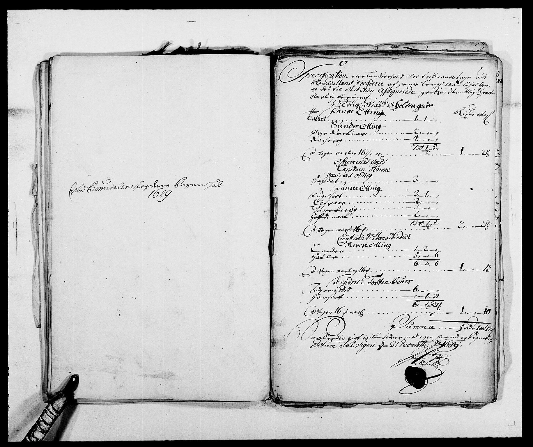 RA, Rentekammeret inntil 1814, Reviderte regnskaper, Fogderegnskap, R55/L3648: Fogderegnskap Romsdal, 1687-1689, s. 394
