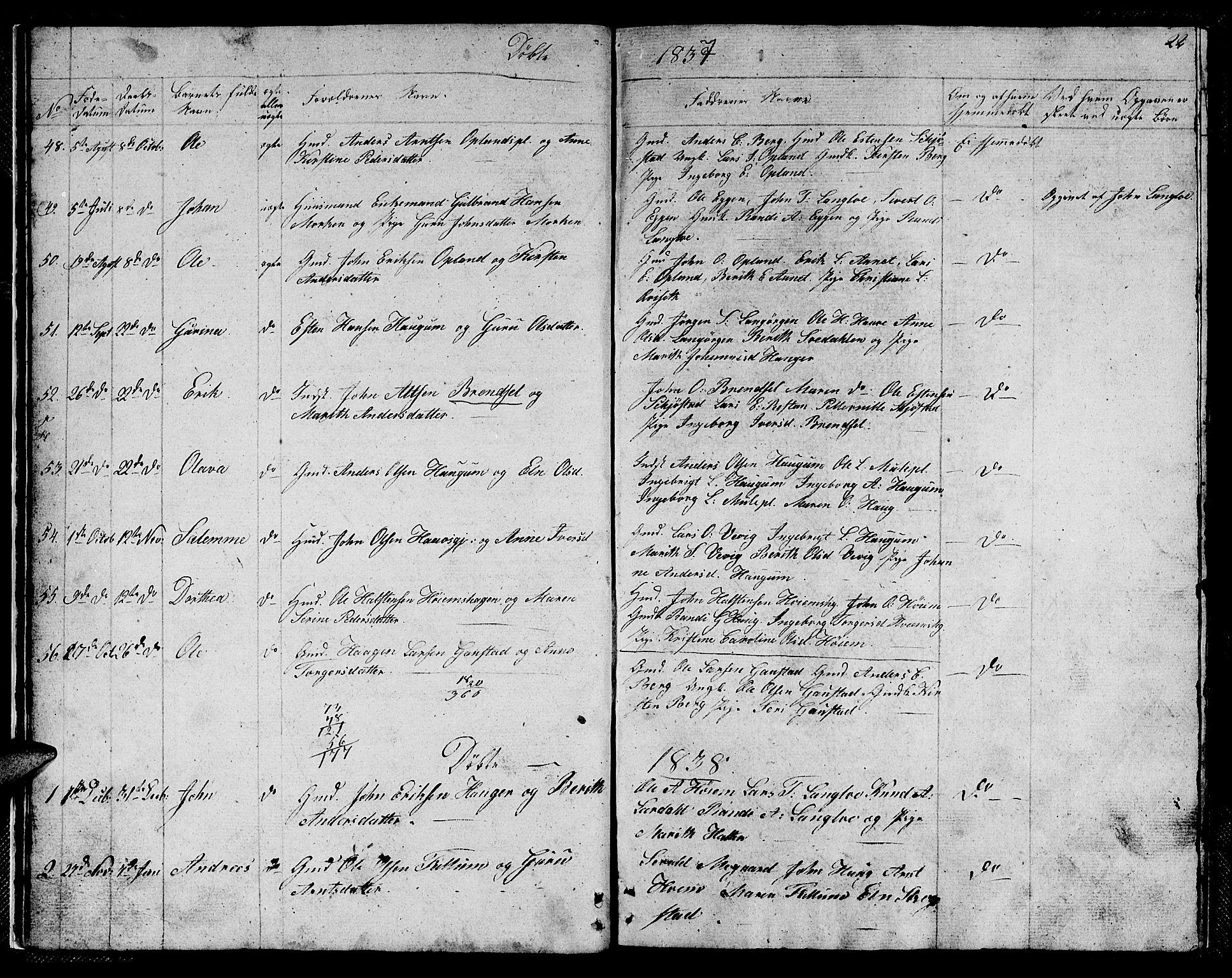 SAT, Ministerialprotokoller, klokkerbøker og fødselsregistre - Sør-Trøndelag, 612/L0386: Klokkerbok nr. 612C02, 1834-1845, s. 22