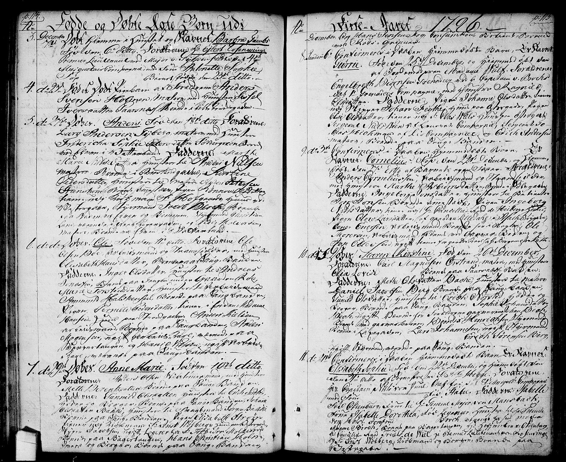 SAO, Halden prestekontor Kirkebøker, F/Fa/L0002: Ministerialbok nr. I 2, 1792-1812, s. 114-115