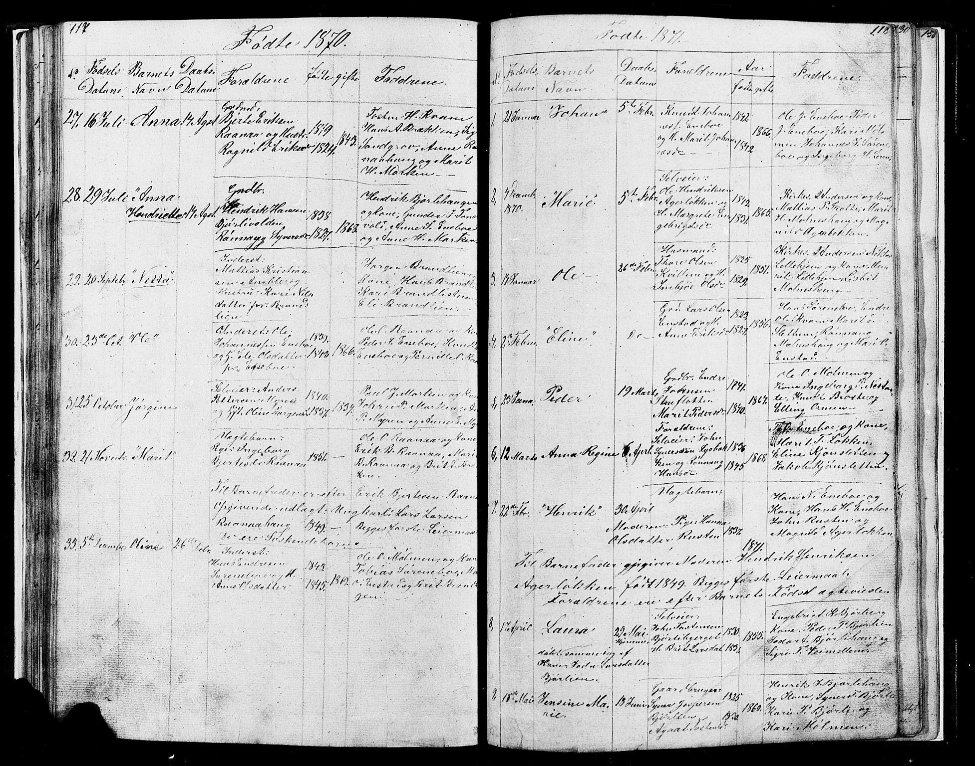 SAH, Lesja prestekontor, Klokkerbok nr. 4, 1842-1871, s. 117-118
