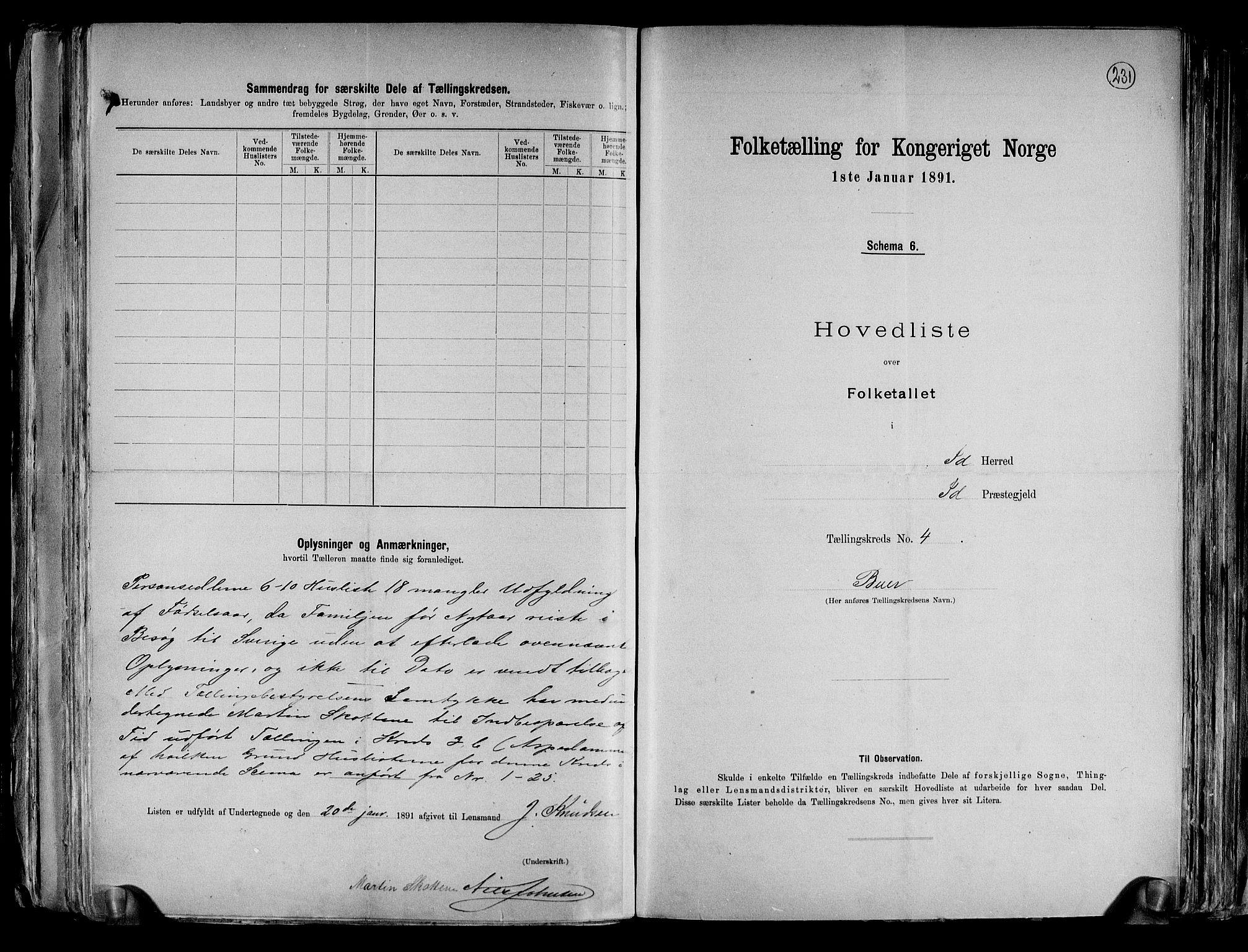 RA, Folketelling 1891 for 0117 Idd herred, 1891, s. 12
