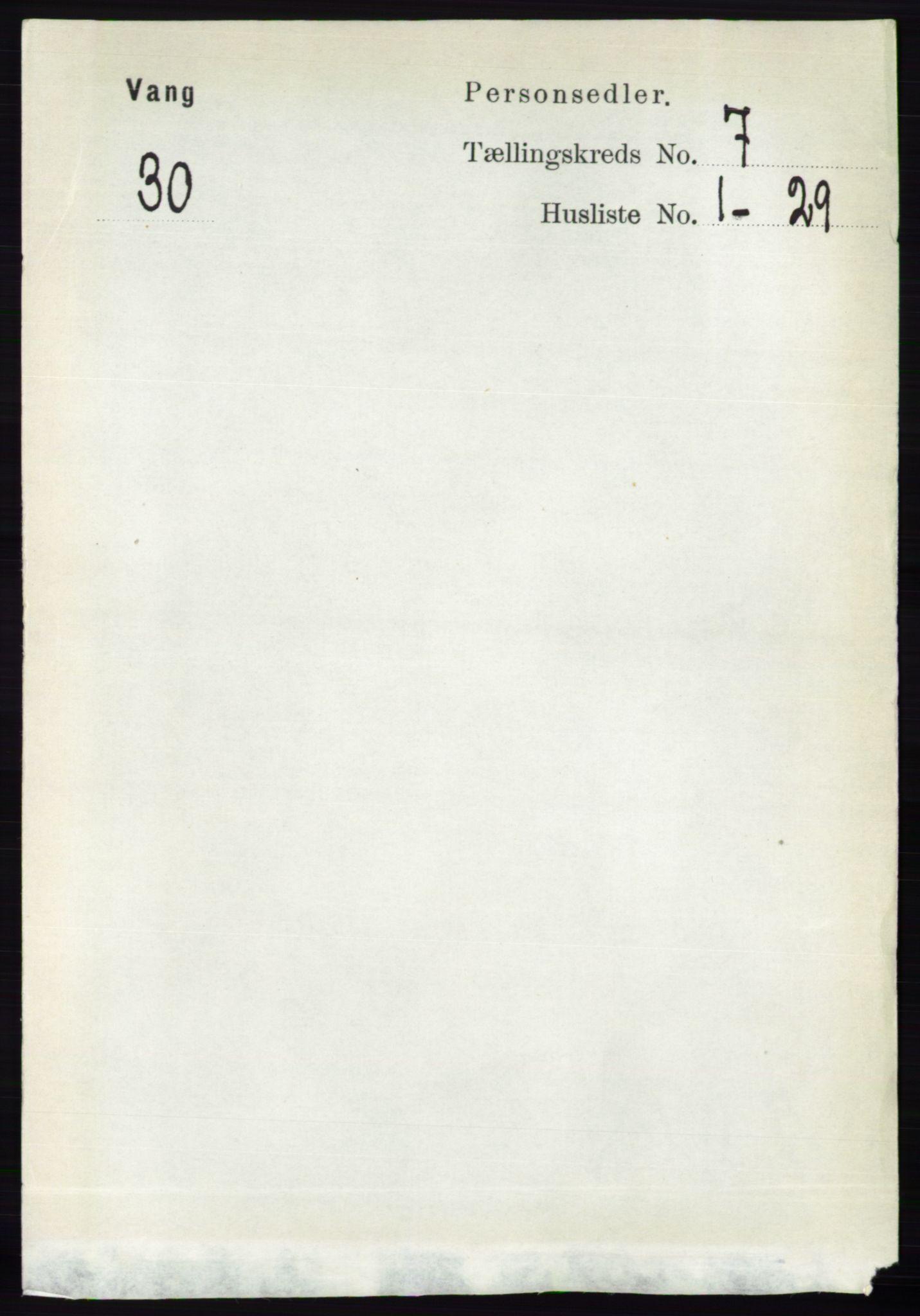 RA, Folketelling 1891 for 0414 Vang herred, 1891, s. 5025