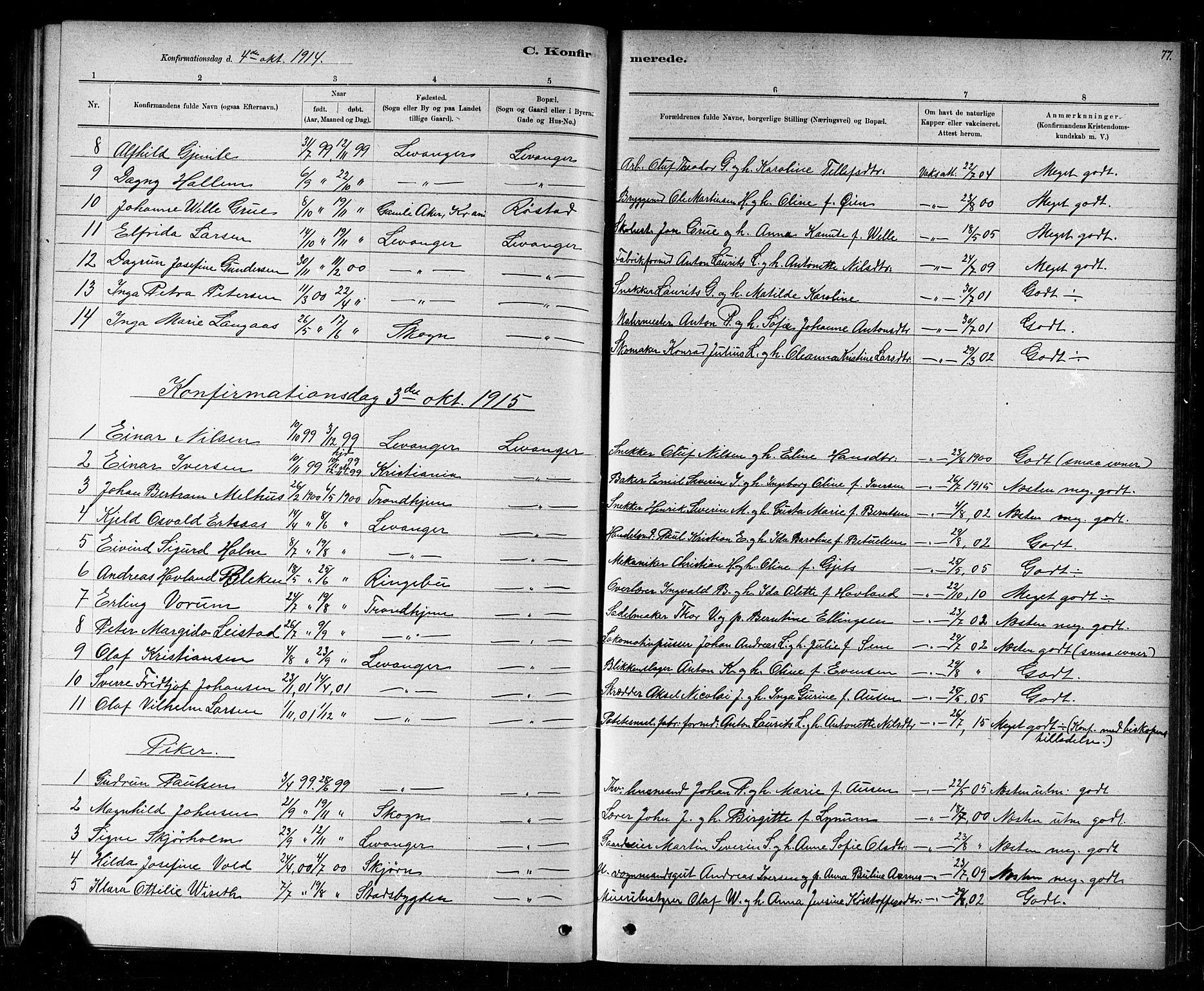 SAT, Ministerialprotokoller, klokkerbøker og fødselsregistre - Nord-Trøndelag, 720/L0192: Klokkerbok nr. 720C01, 1880-1917, s. 77