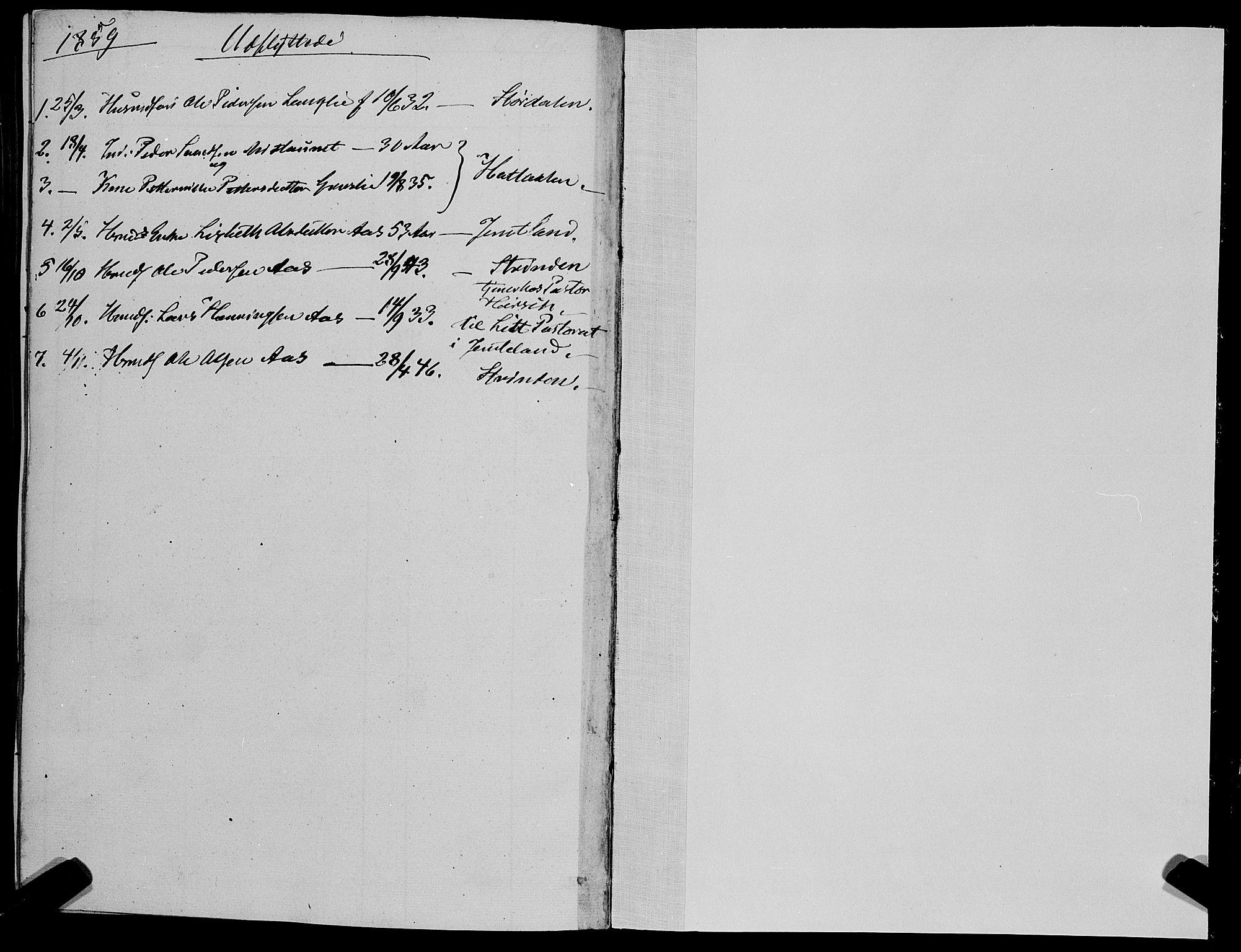 SAT, Ministerialprotokoller, klokkerbøker og fødselsregistre - Sør-Trøndelag, 695/L1145: Ministerialbok nr. 695A06 /1, 1843-1859