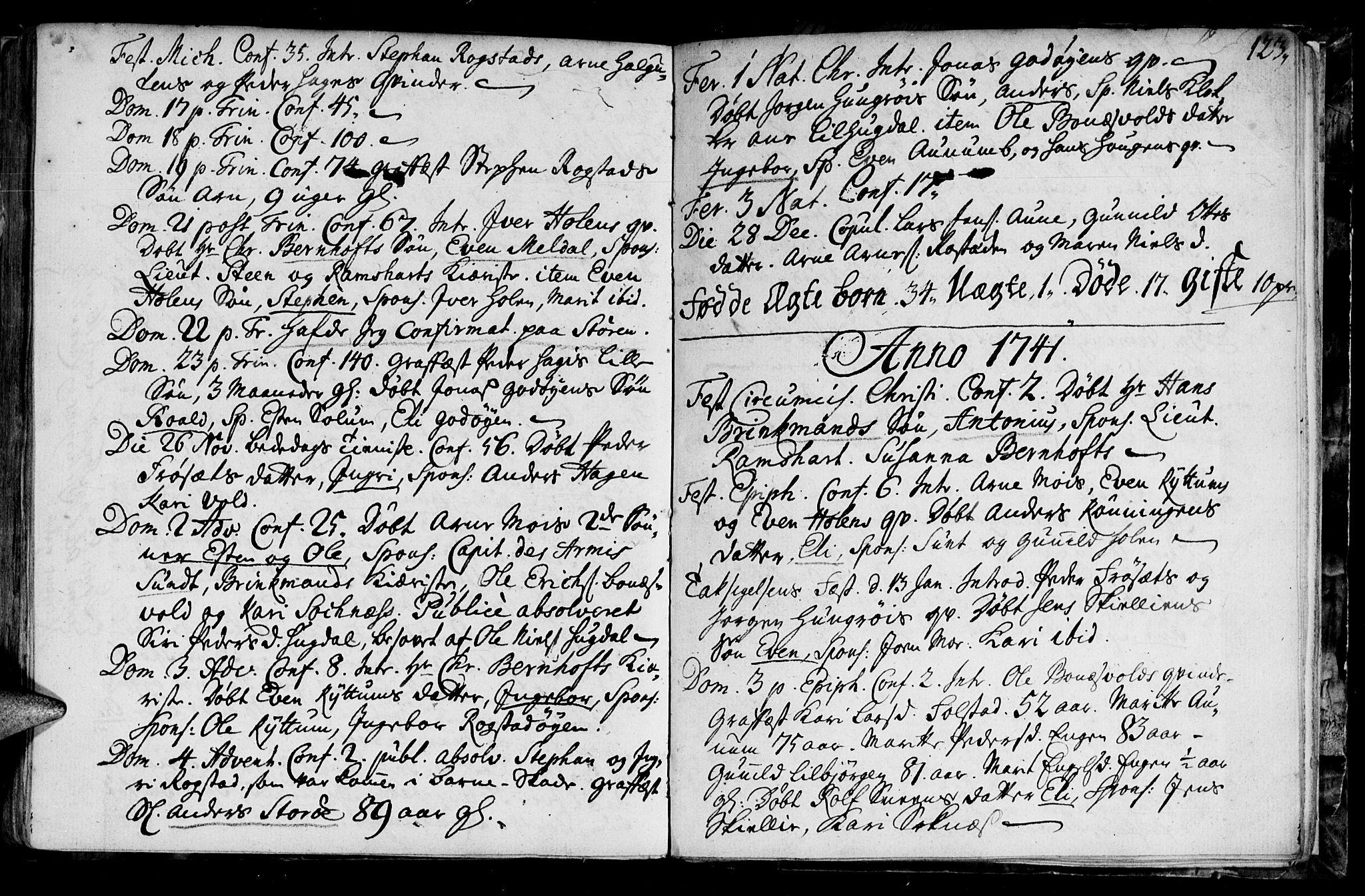 SAT, Ministerialprotokoller, klokkerbøker og fødselsregistre - Sør-Trøndelag, 687/L0990: Ministerialbok nr. 687A01, 1690-1746, s. 123