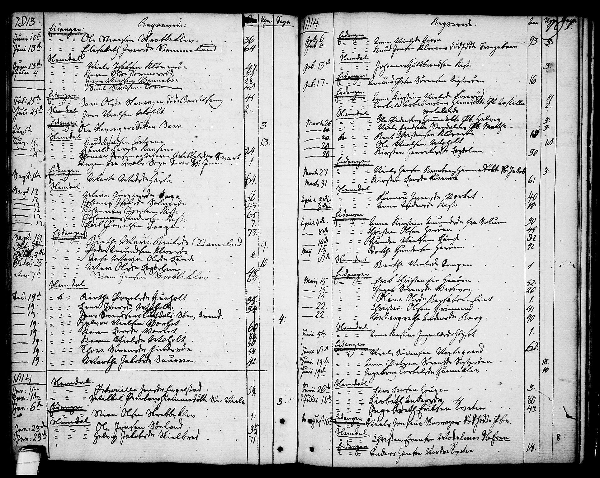 SAKO, Eidanger kirkebøker, F/Fa/L0006: Ministerialbok nr. 6, 1764-1814, s. 197