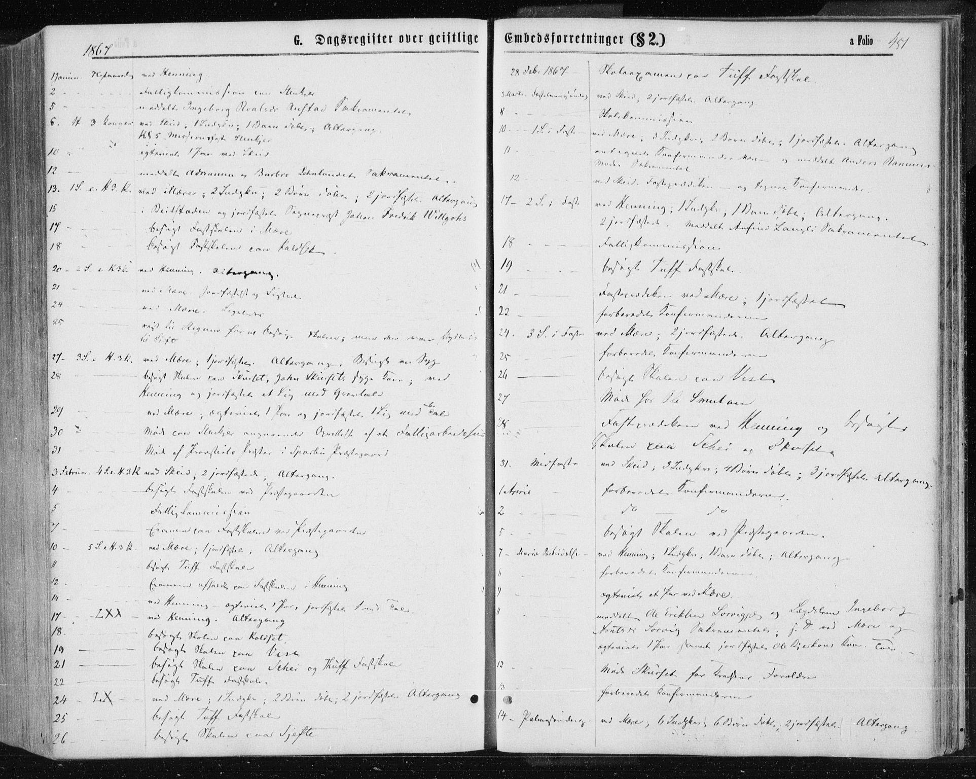 SAT, Ministerialprotokoller, klokkerbøker og fødselsregistre - Nord-Trøndelag, 735/L0345: Ministerialbok nr. 735A08 /1, 1863-1872, s. 451