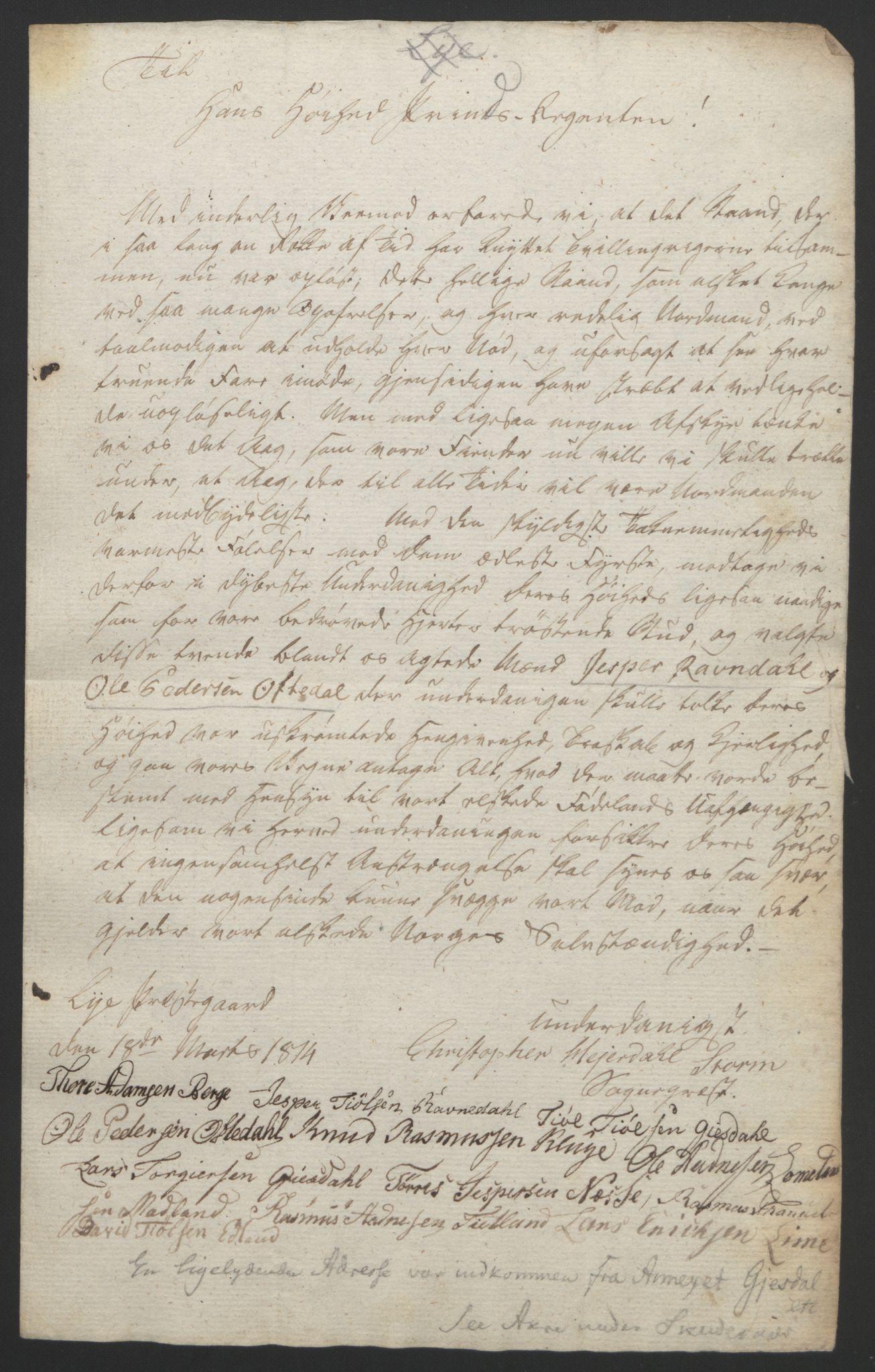 RA, Statsrådssekretariatet, D/Db/L0008: Fullmakter for Eidsvollsrepresentantene i 1814. , 1814, s. 235