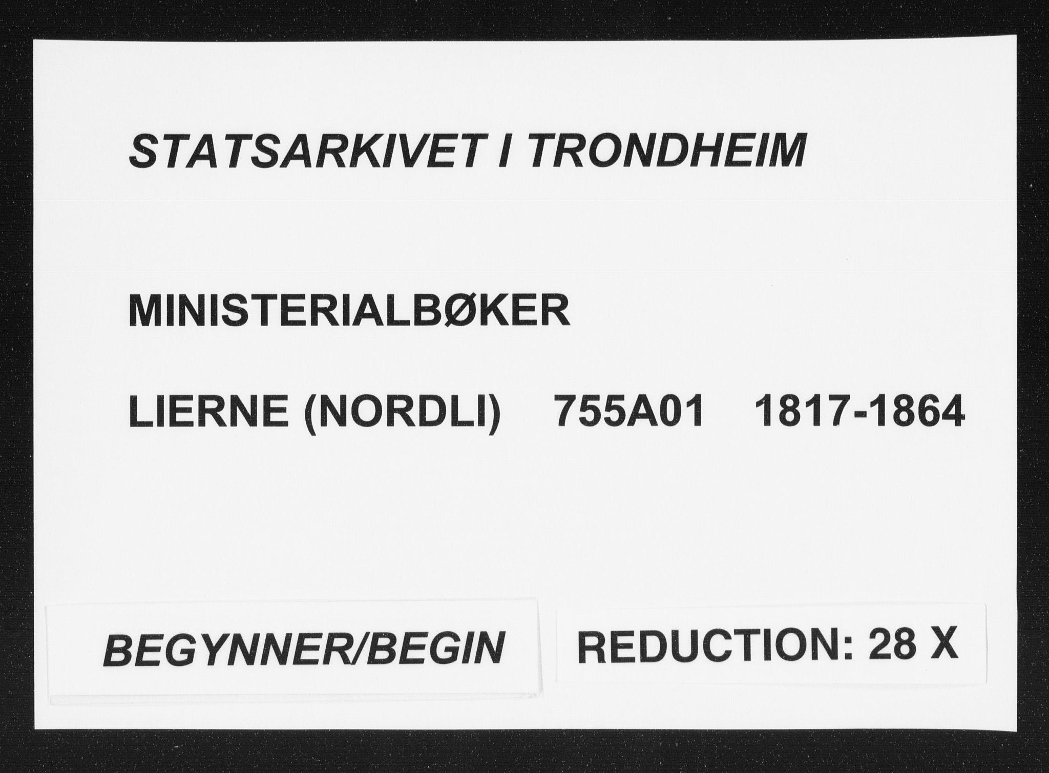 SAT, Ministerialprotokoller, klokkerbøker og fødselsregistre - Nord-Trøndelag, 755/L0491: Ministerialbok nr. 755A01 /1, 1817-1864