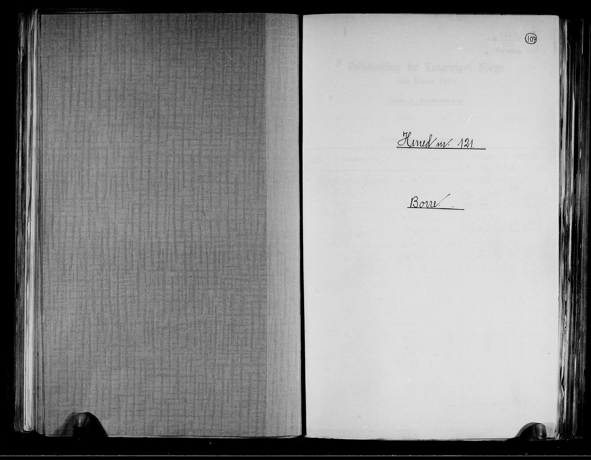 RA, Folketelling 1891 for 0717 Borre herred, 1891, s. 1