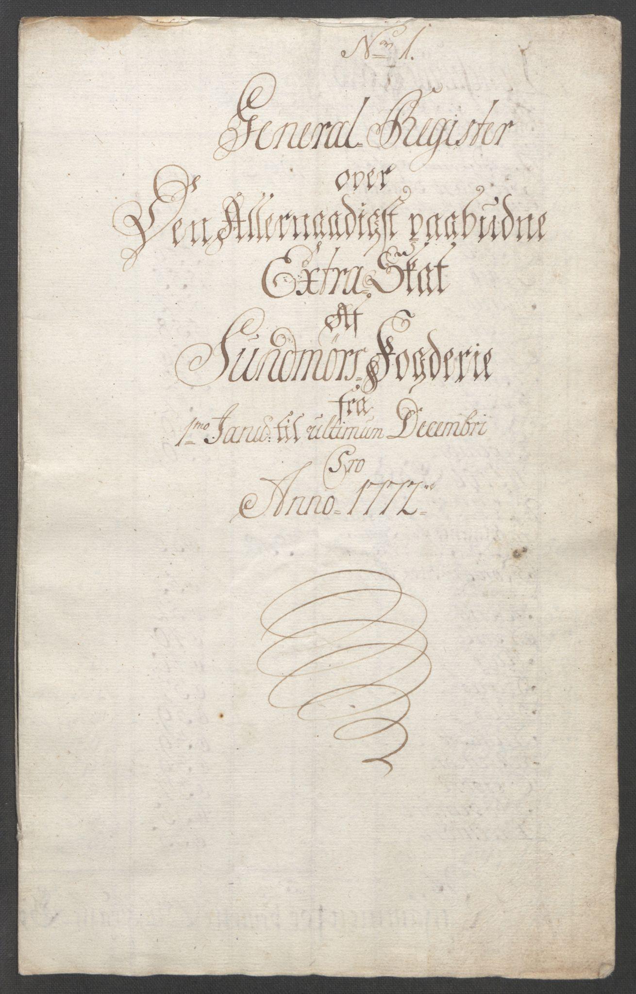 RA, Rentekammeret inntil 1814, Reviderte regnskaper, Fogderegnskap, R54/L3645: Ekstraskatten Sunnmøre, 1762-1772, s. 236