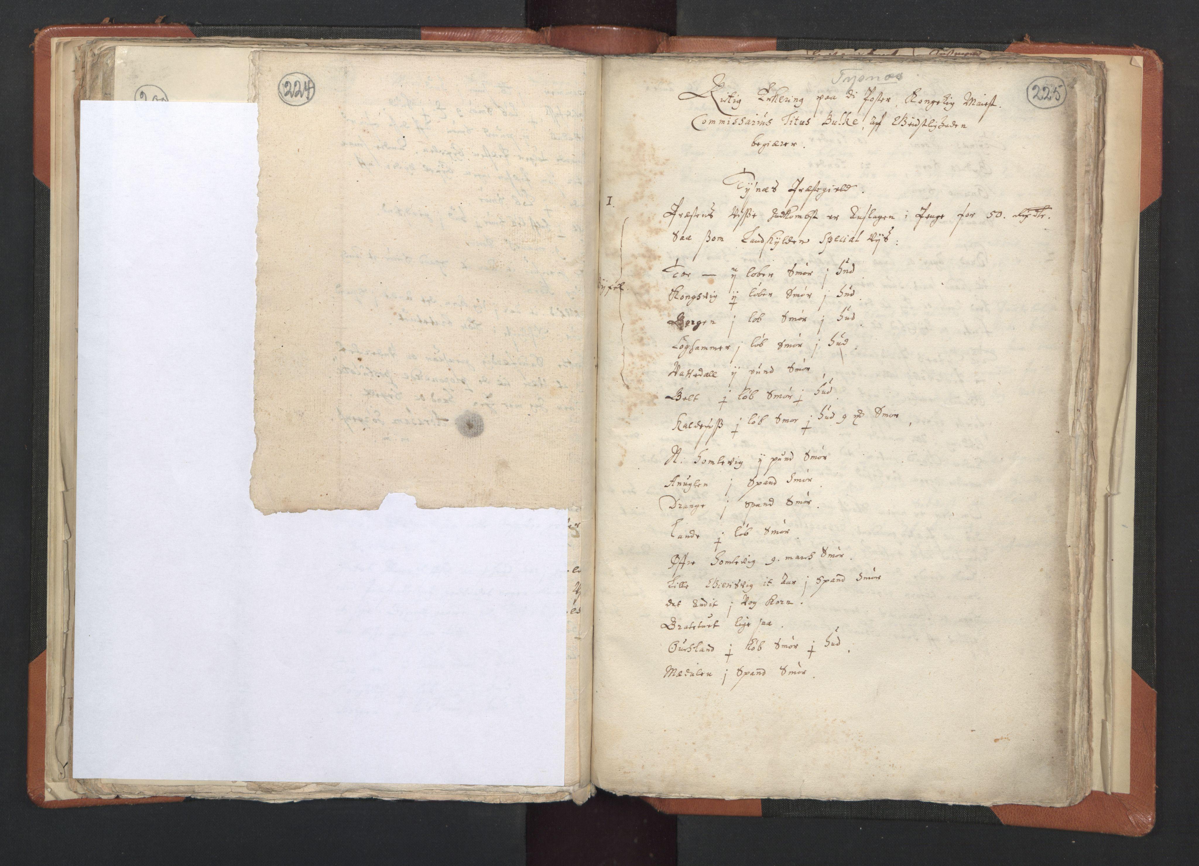 RA, Sogneprestenes manntall 1664-1666, nr. 20: Sunnhordland prosti, 1664-1666, s. 224-225