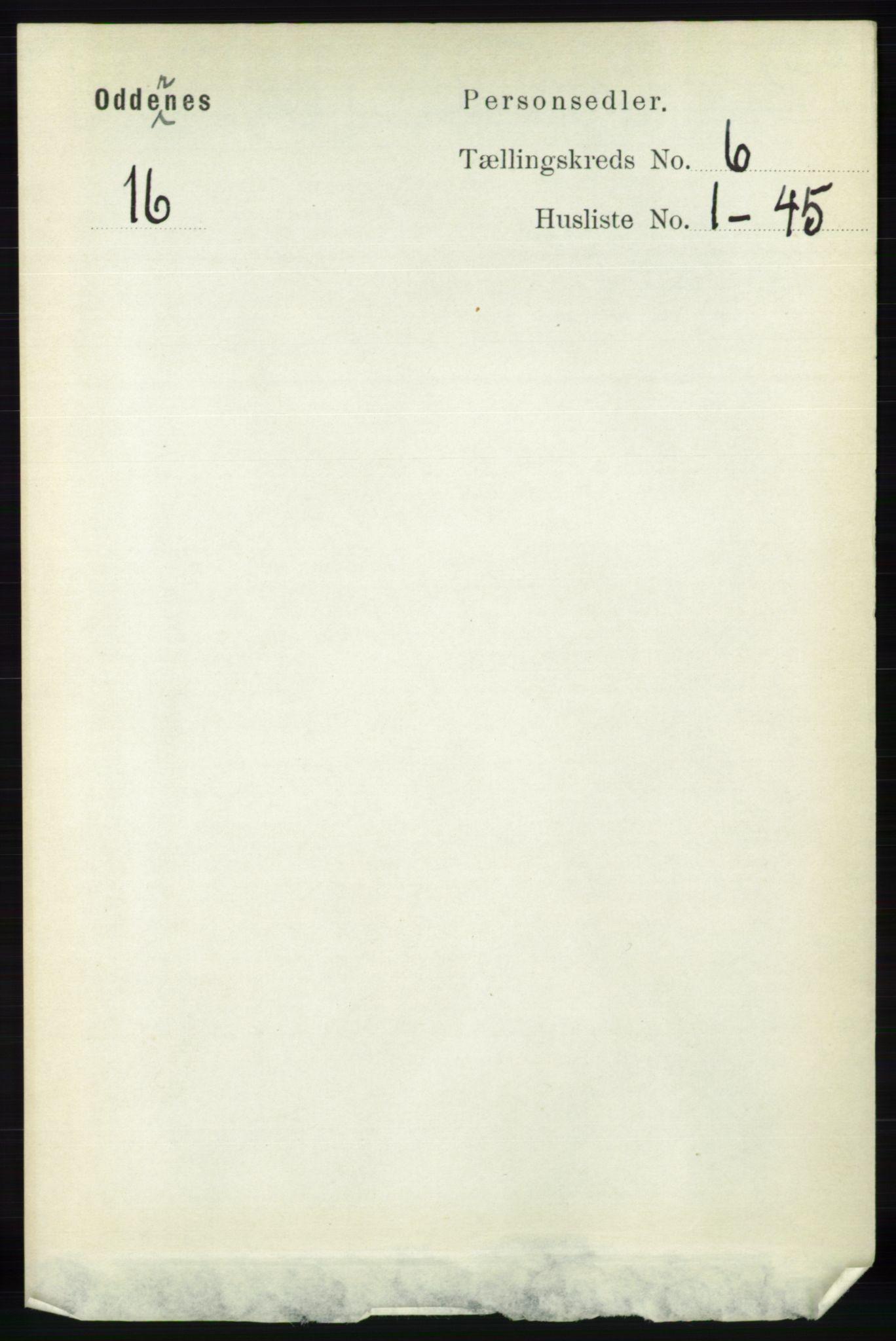 RA, Folketelling 1891 for 1012 Oddernes herred, 1891, s. 2196