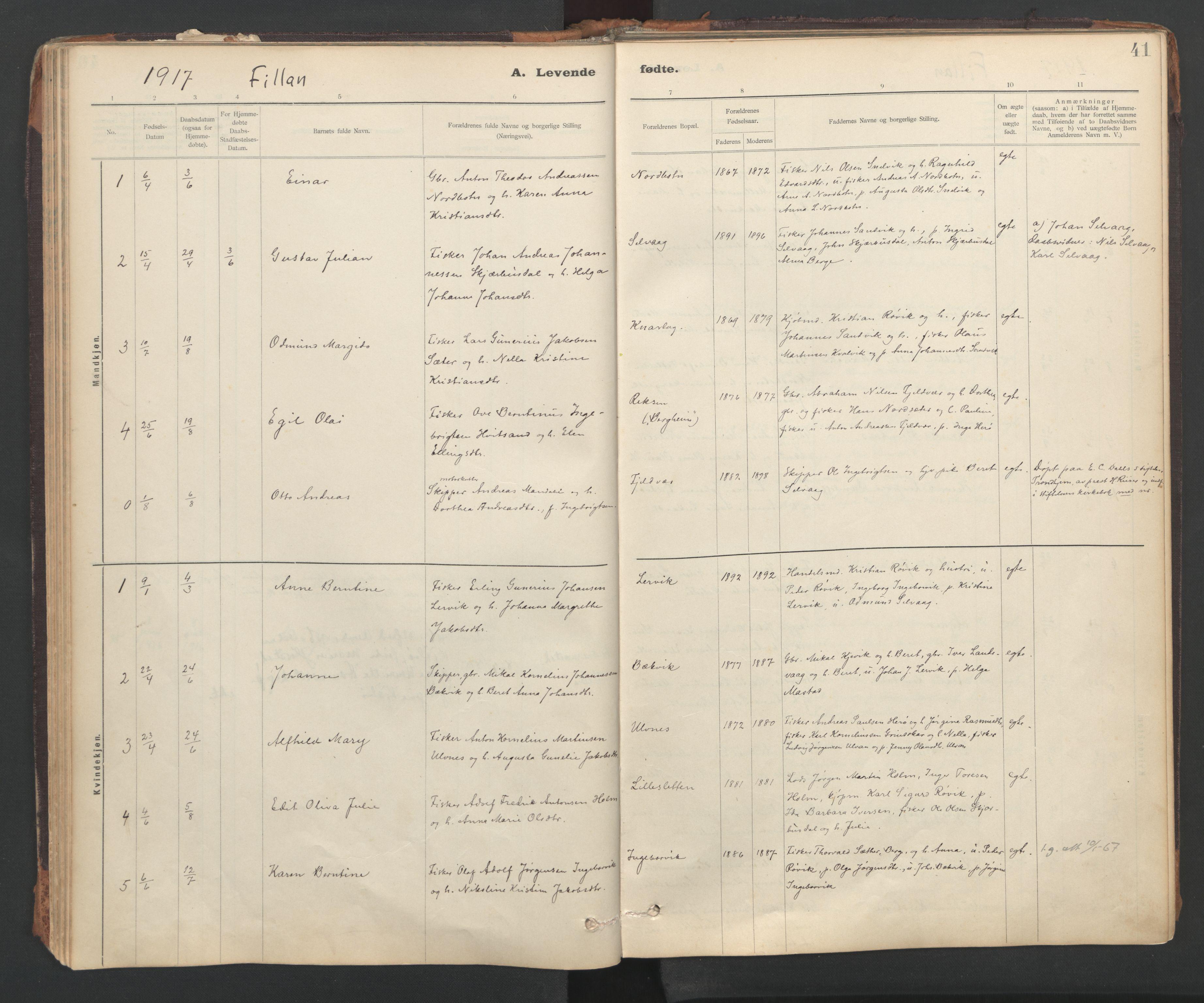 SAT, Ministerialprotokoller, klokkerbøker og fødselsregistre - Sør-Trøndelag, 637/L0559: Ministerialbok nr. 637A02, 1899-1923, s. 41