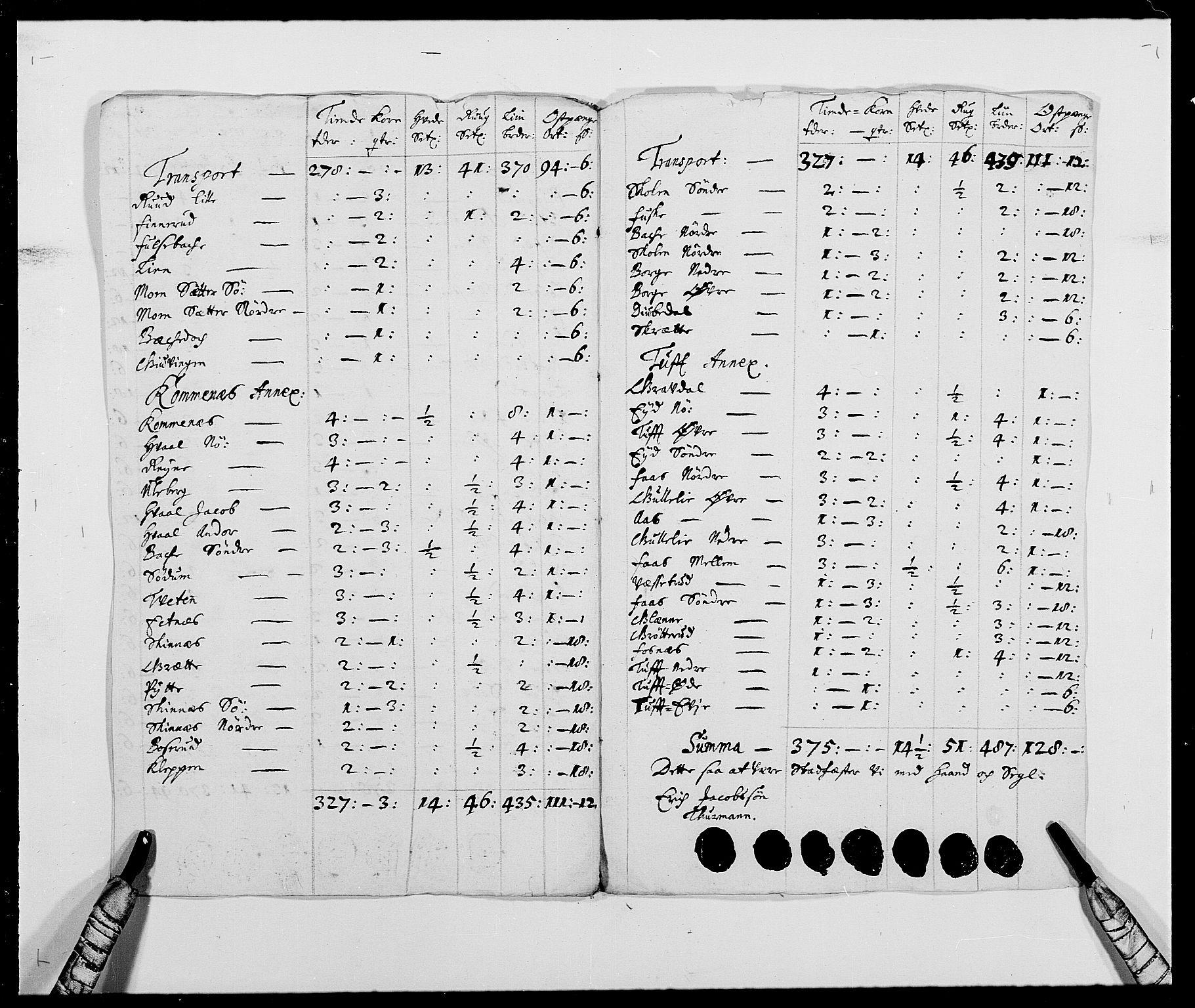 RA, Rentekammeret inntil 1814, Reviderte regnskaper, Fogderegnskap, R24/L1573: Fogderegnskap Numedal og Sandsvær, 1687-1691, s. 421