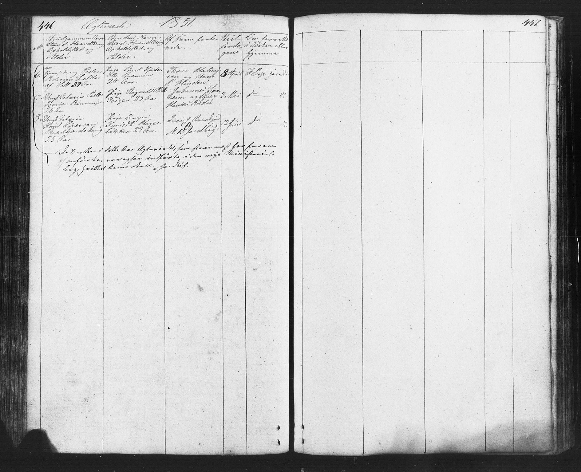 SAH, Lesja prestekontor, Klokkerbok nr. 2, 1832-1850, s. 446-447