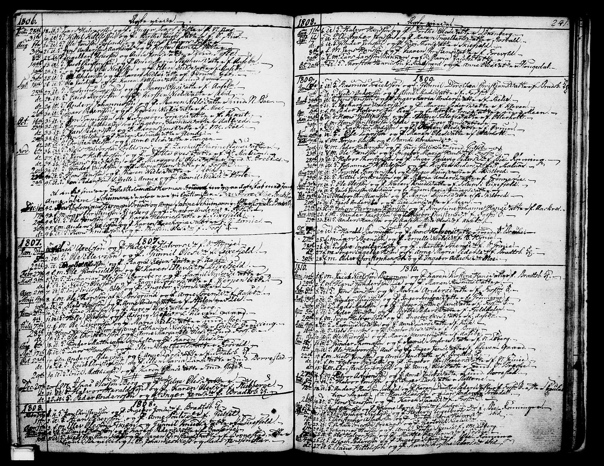 SAKO, Gjerpen kirkebøker, F/Fa/L0003: Ministerialbok nr. 3, 1796-1814, s. 241