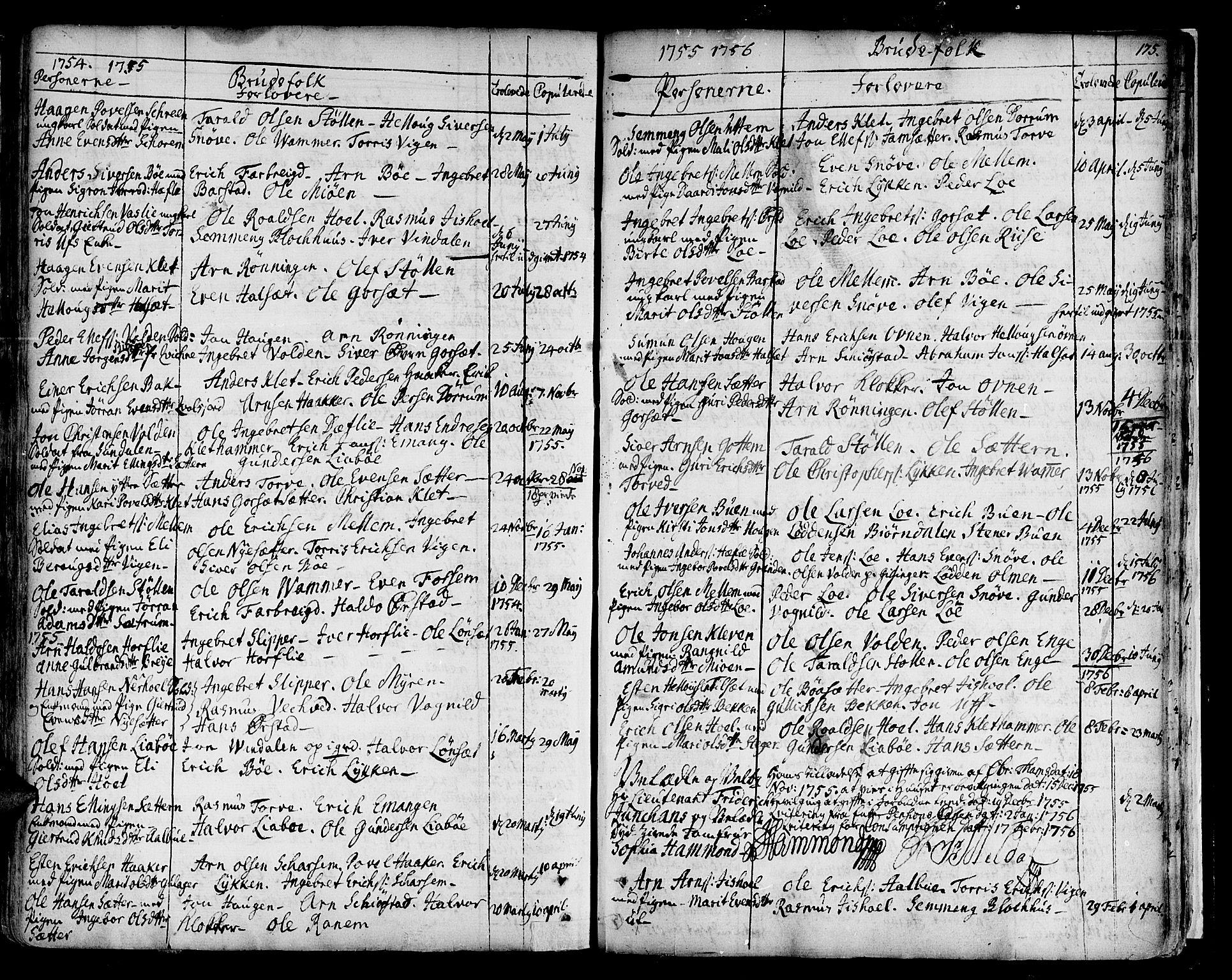 SAT, Ministerialprotokoller, klokkerbøker og fødselsregistre - Sør-Trøndelag, 678/L0891: Ministerialbok nr. 678A01, 1739-1780, s. 175