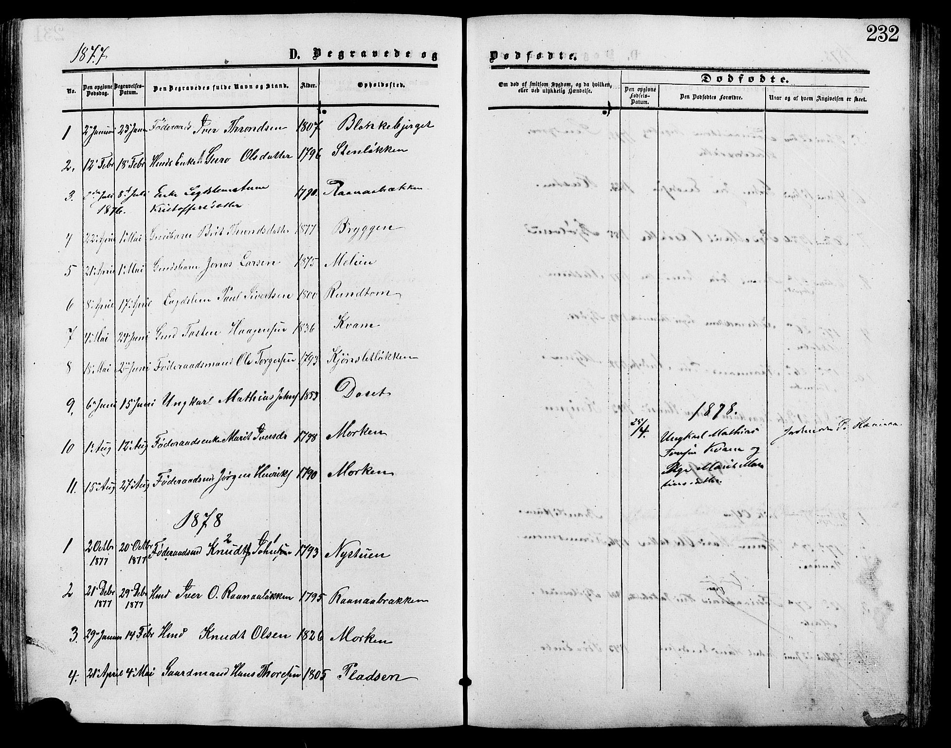SAH, Lesja prestekontor, Ministerialbok nr. 9, 1854-1889, s. 232