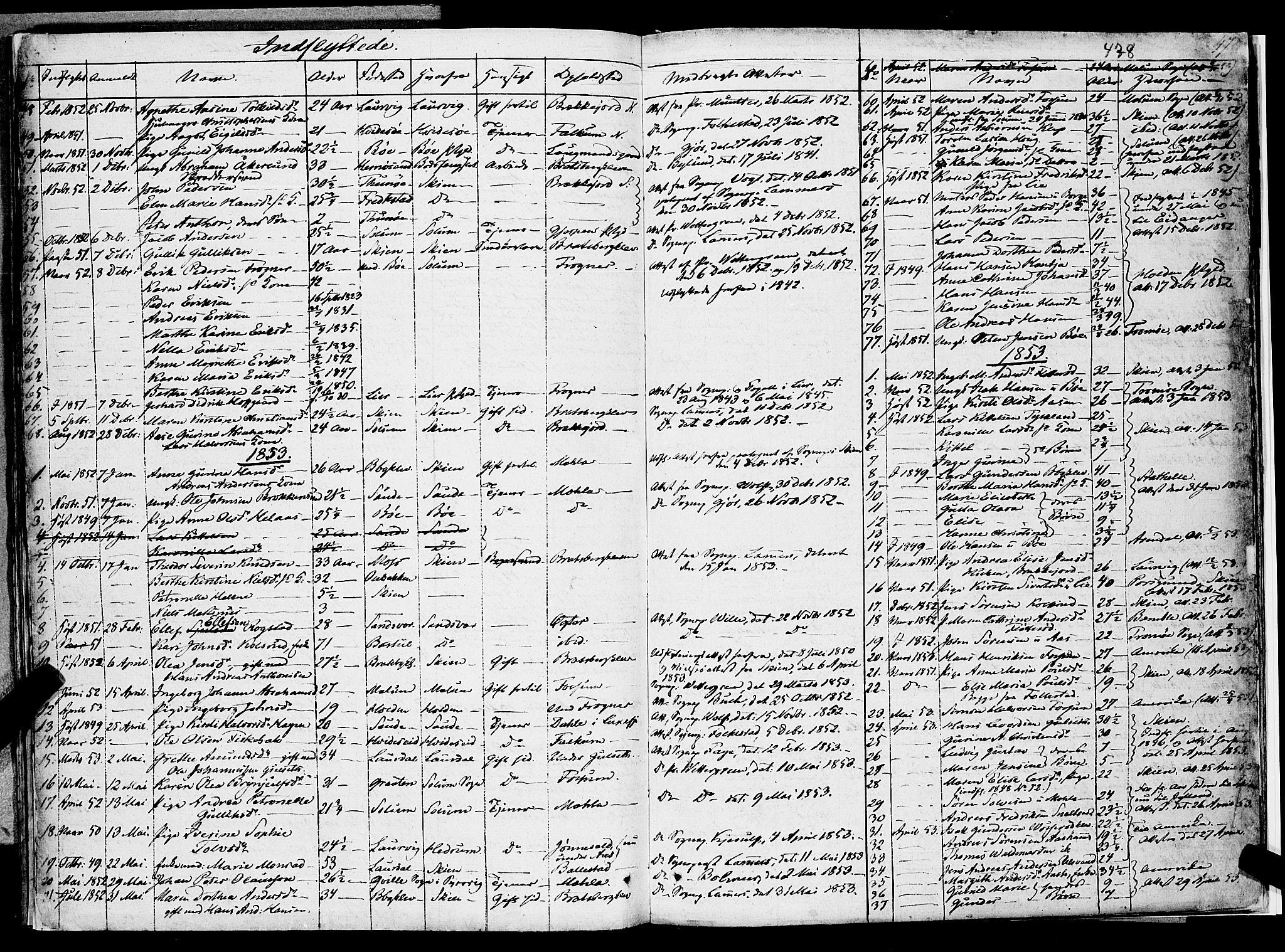 SAKO, Gjerpen kirkebøker, F/Fa/L0007b: Ministerialbok nr. 7B, 1834-1857, s. 478