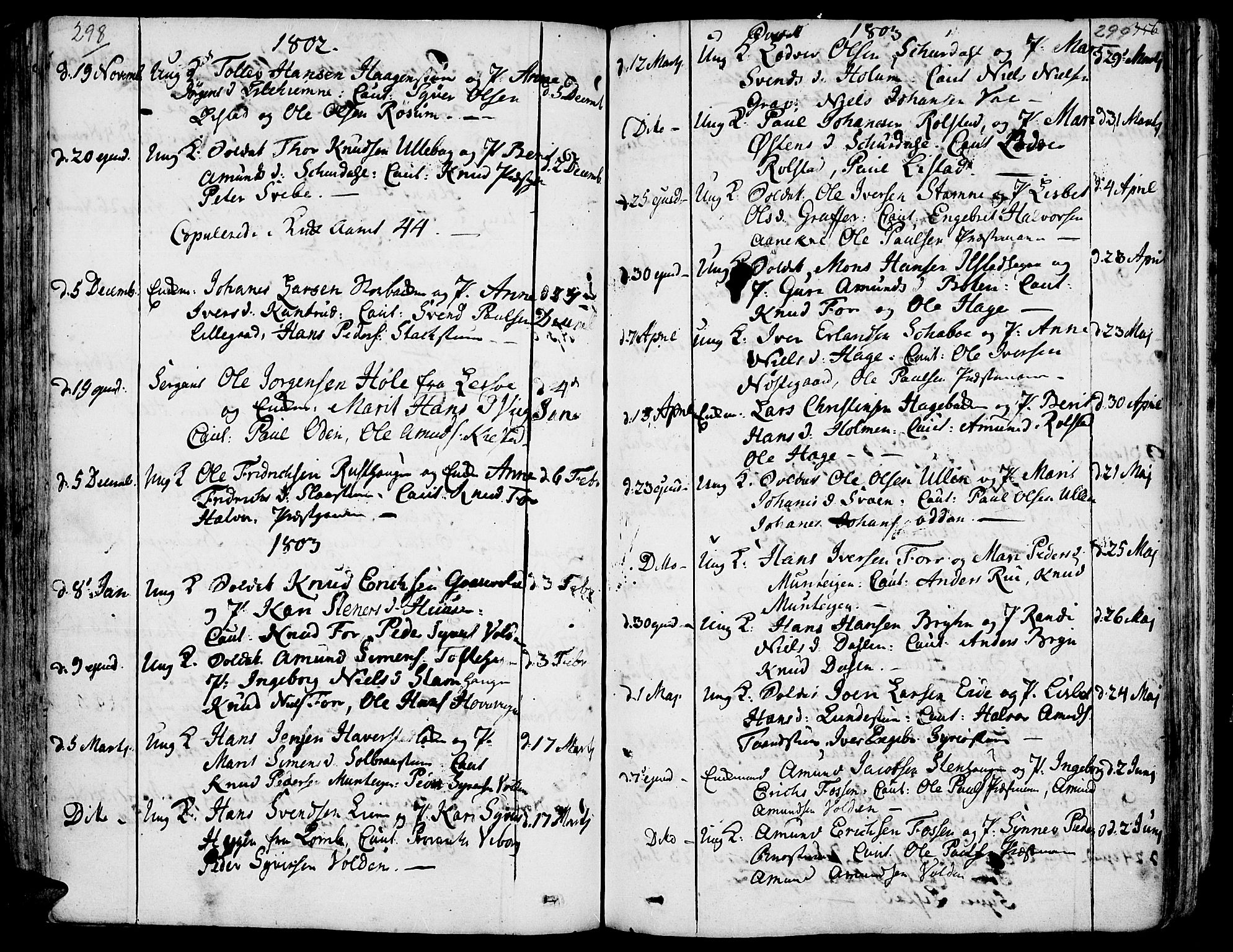 SAH, Fron prestekontor, H/Ha/Haa/L0001: Ministerialbok nr. 1, 1799-1816, s. 298-299