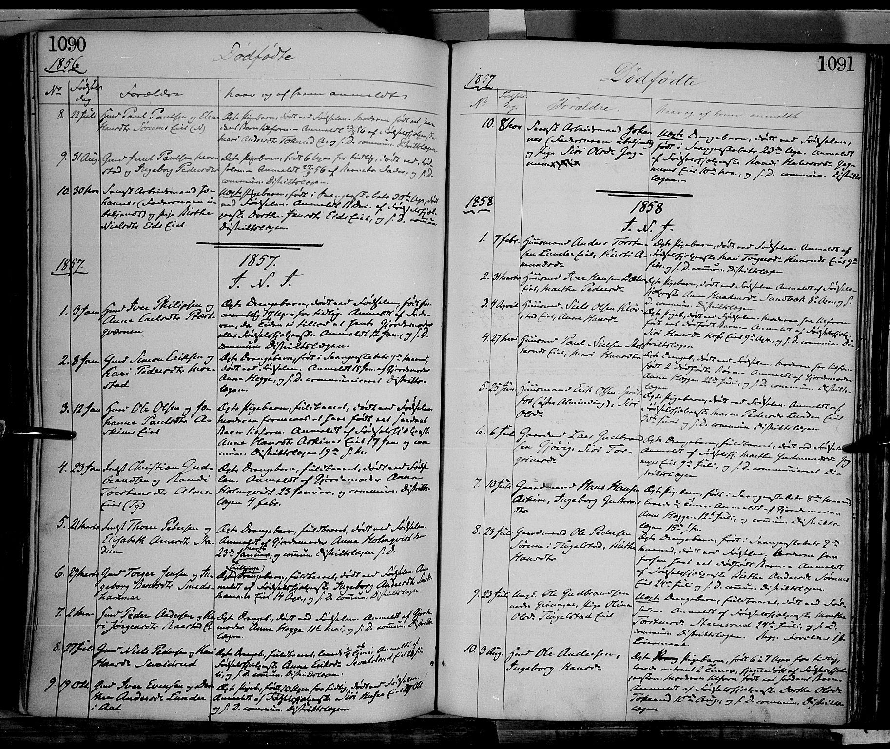 SAH, Gran prestekontor, Ministerialbok nr. 12, 1856-1874, s. 1090-1091