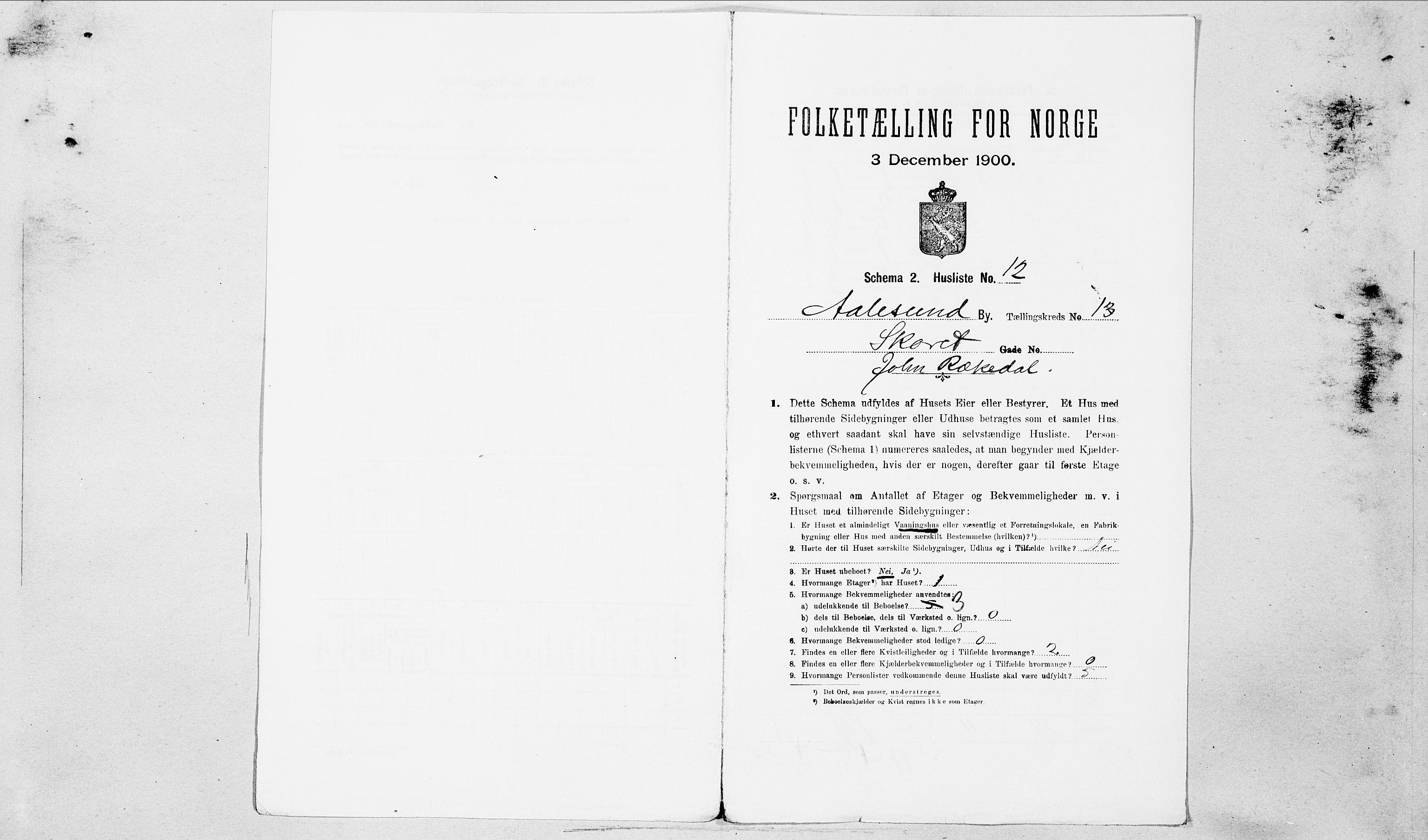 SAT, Folketelling 1900 for 1501 Ålesund kjøpstad, 1900, s. 3218