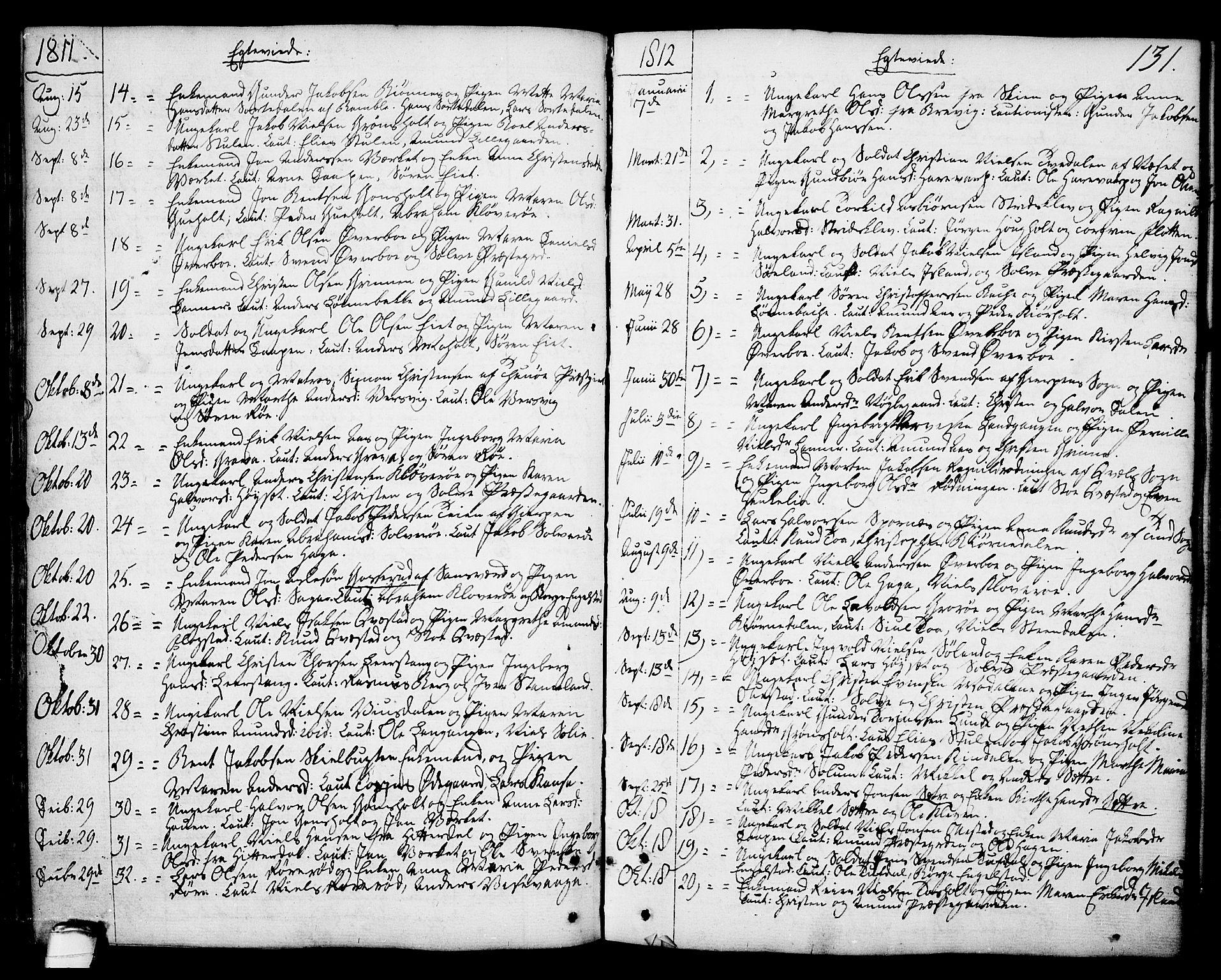SAKO, Eidanger kirkebøker, F/Fa/L0006: Ministerialbok nr. 6, 1764-1814, s. 131