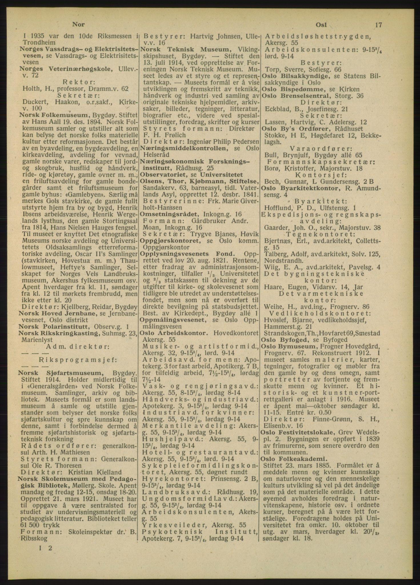 RA, Oslo adressebok (publikasjon)*, 1948, s. 17
