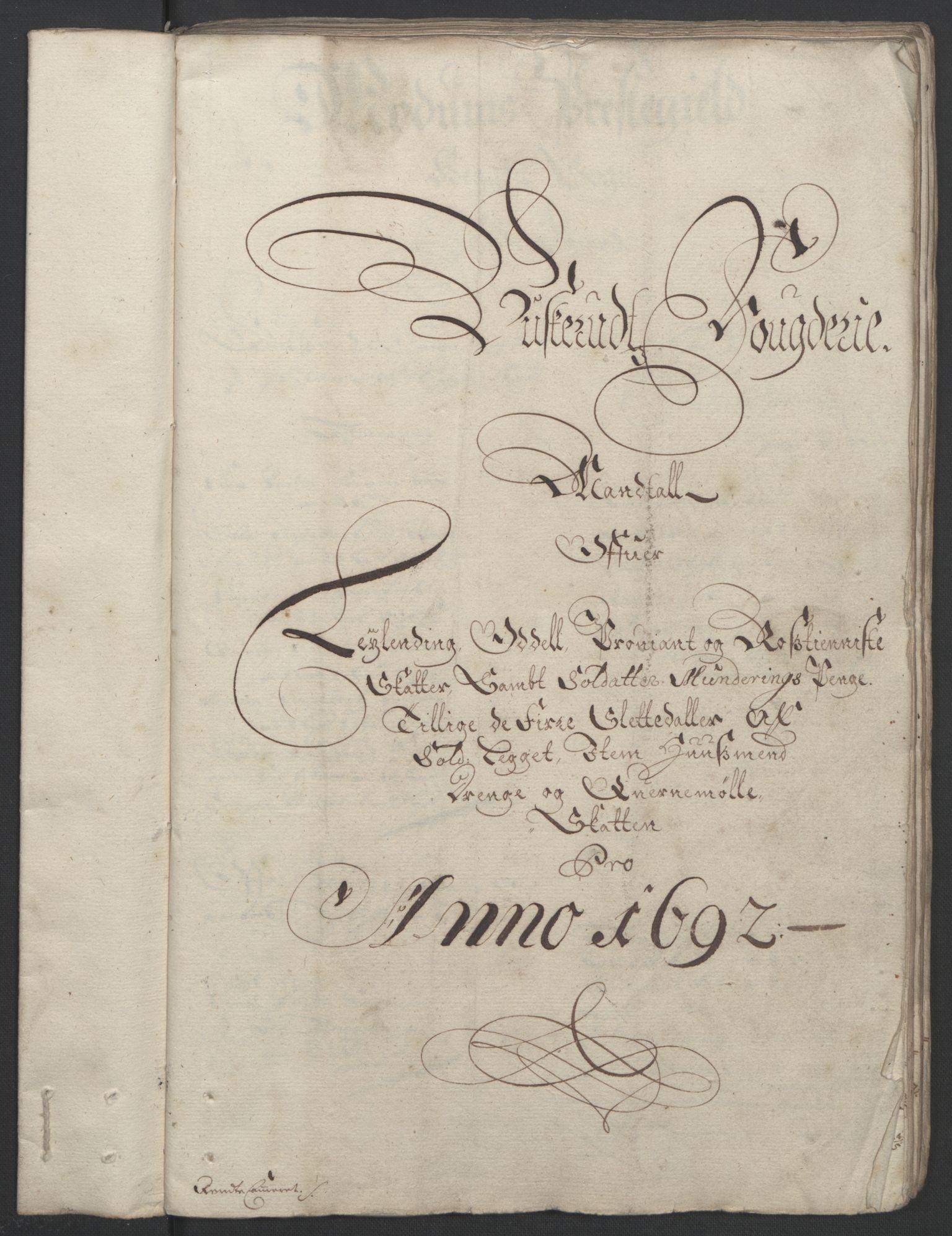 RA, Rentekammeret inntil 1814, Reviderte regnskaper, Fogderegnskap, R25/L1681: Fogderegnskap Buskerud, 1691-1692, s. 354