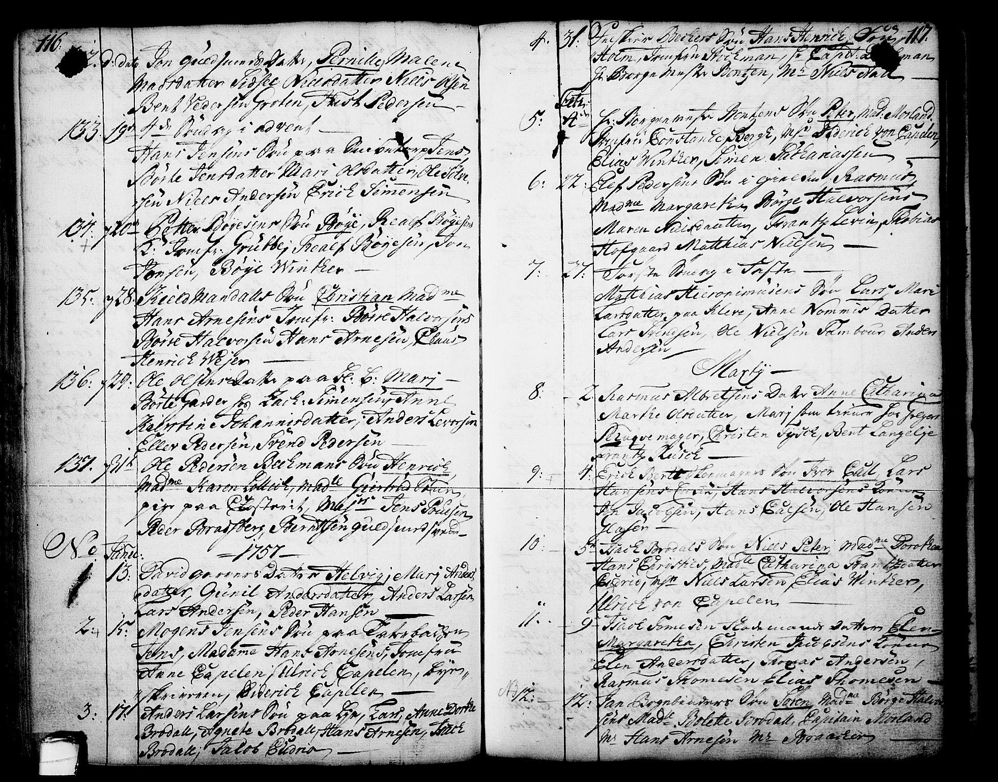 SAKO, Skien kirkebøker, F/Fa/L0003: Ministerialbok nr. 3, 1755-1791, s. 116-117