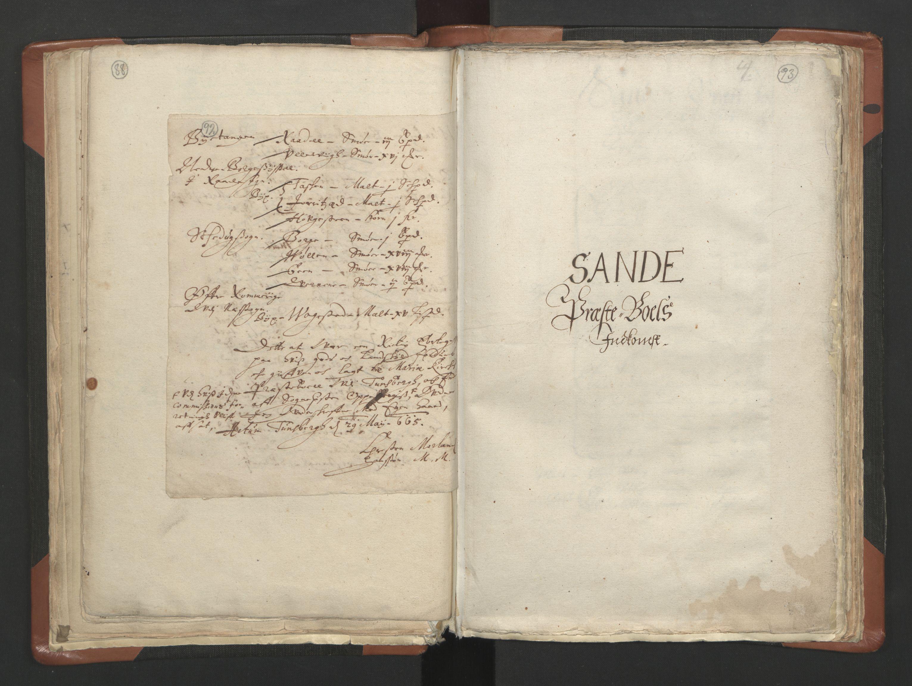 RA, Sogneprestenes manntall 1664-1666, nr. 10: Tønsberg prosti, 1664-1666, s. 92-93