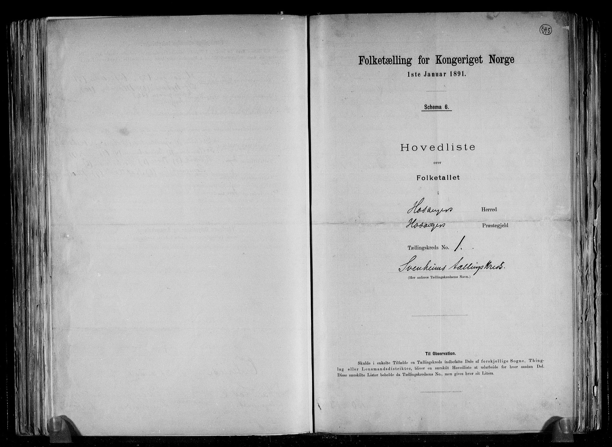 RA, Folketelling 1891 for 1253 Hosanger herred, 1891, s. 4