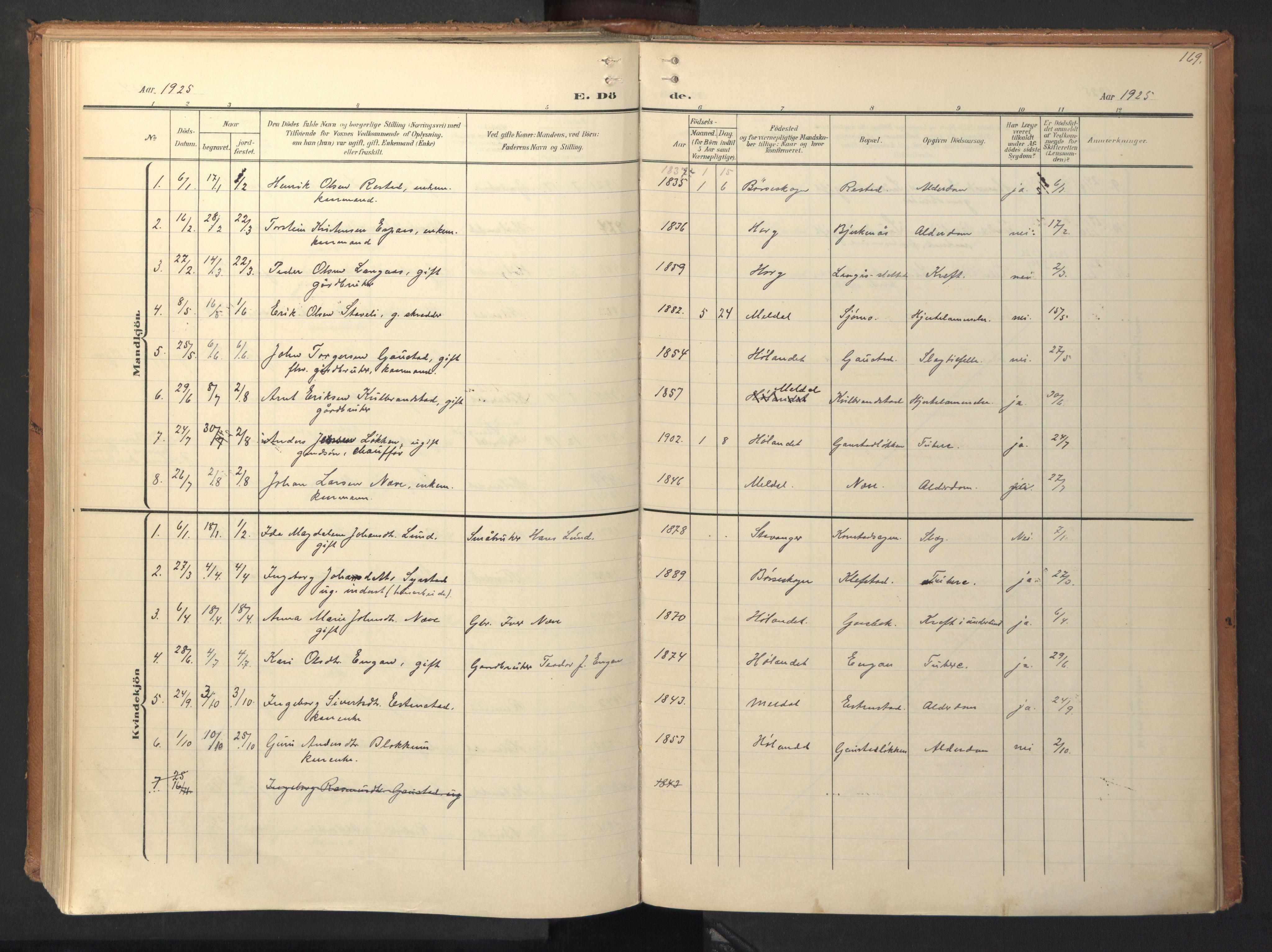 SAT, Ministerialprotokoller, klokkerbøker og fødselsregistre - Sør-Trøndelag, 694/L1128: Ministerialbok nr. 694A02, 1906-1931, s. 169
