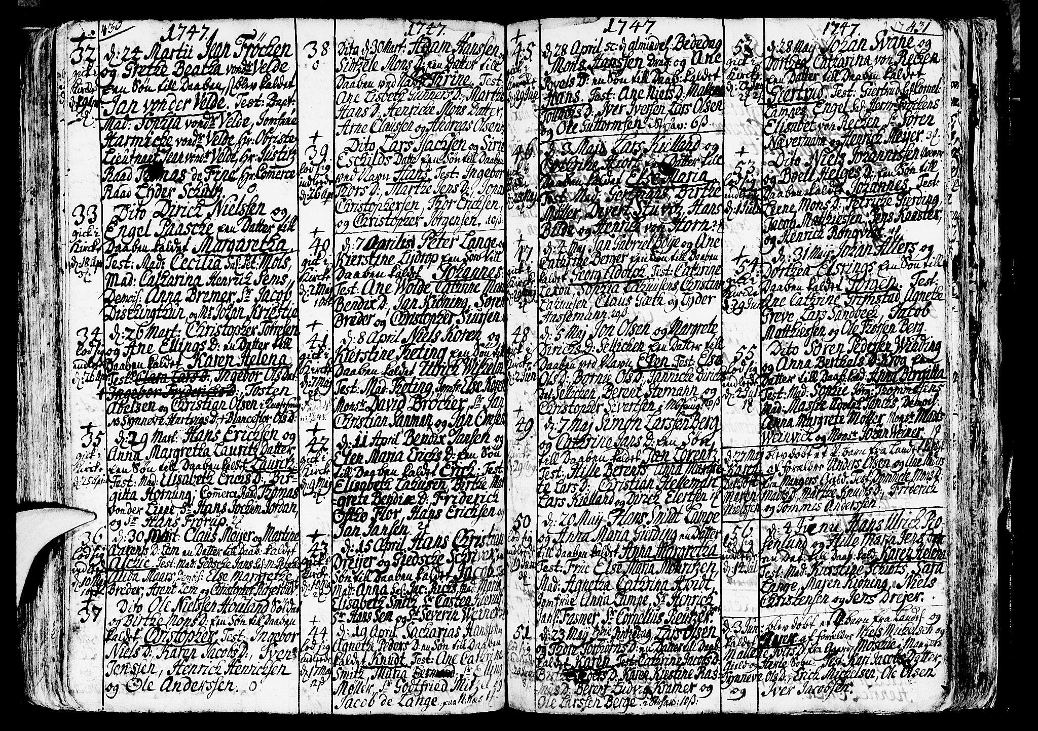 SAB, Nykirken Sokneprestembete, H/Haa: Ministerialbok nr. A 3, 1717-1764, s. 217