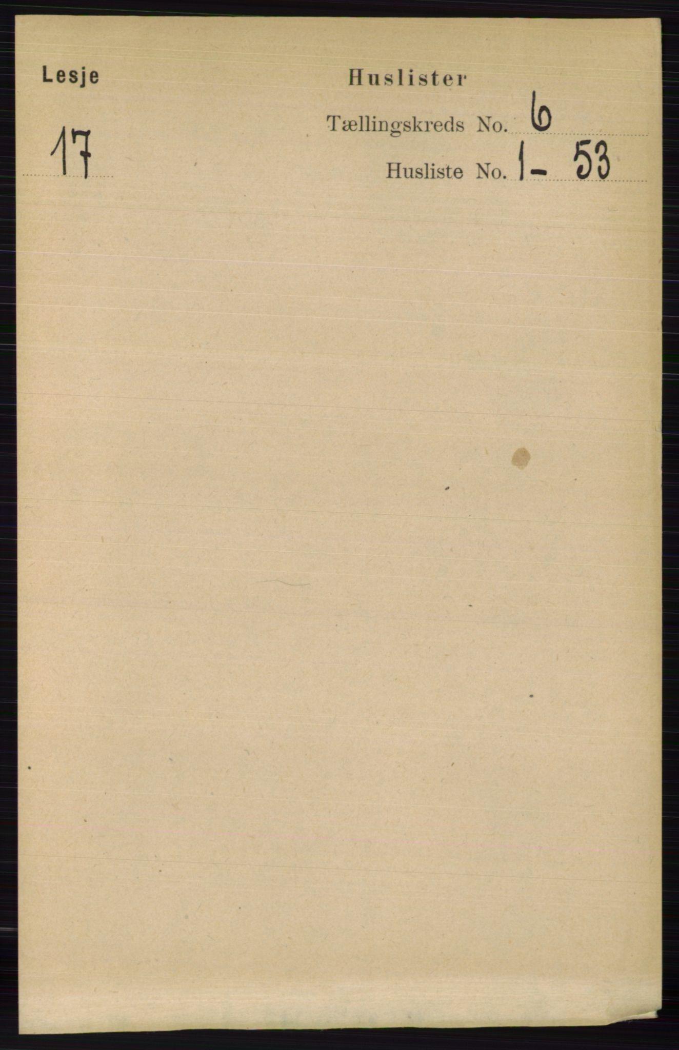 RA, Folketelling 1891 for 0512 Lesja herred, 1891, s. 2087