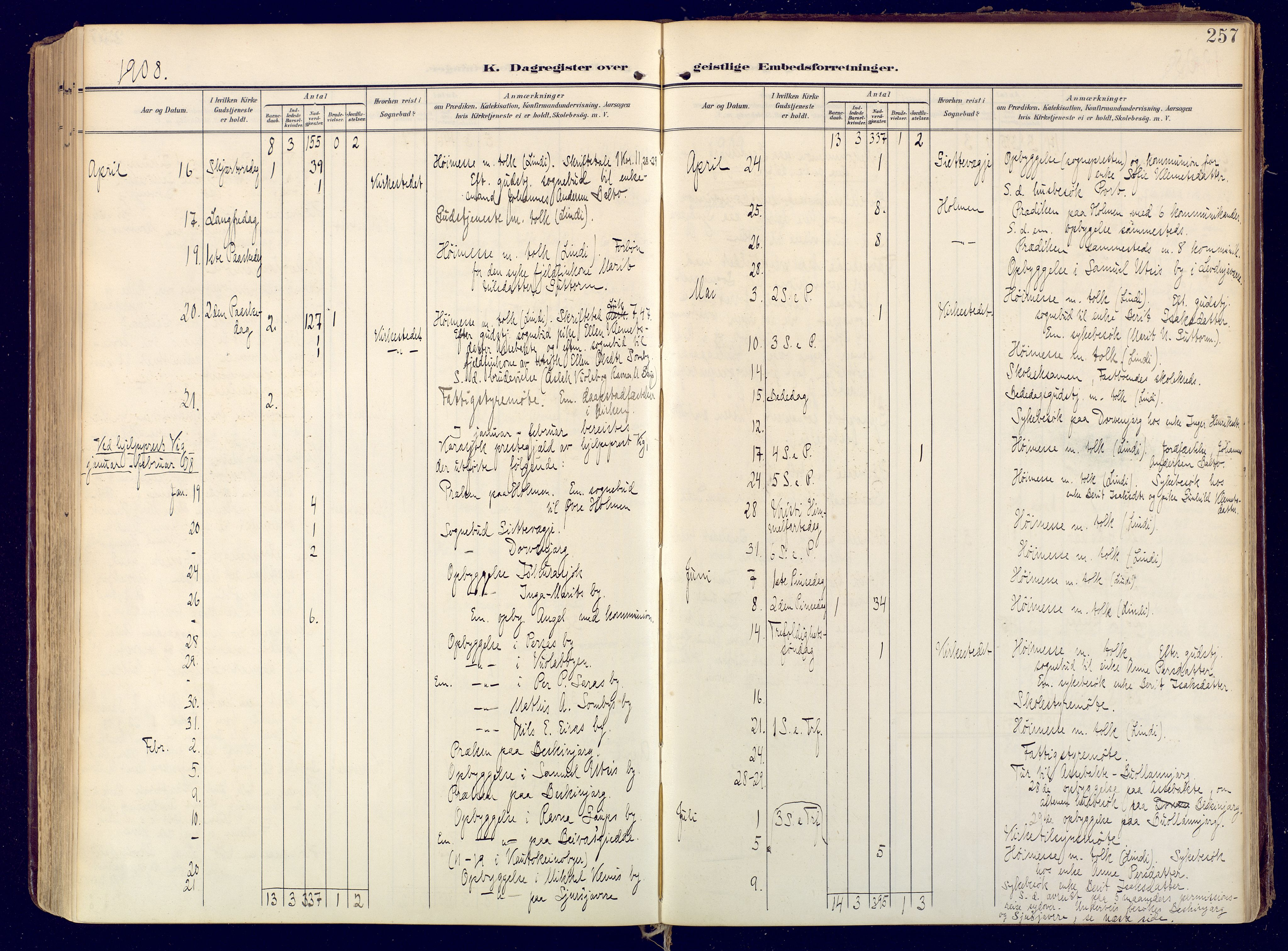 SATØ, Karasjok sokneprestkontor, H/Ha: Ministerialbok nr. 3, 1907-1926, s. 257