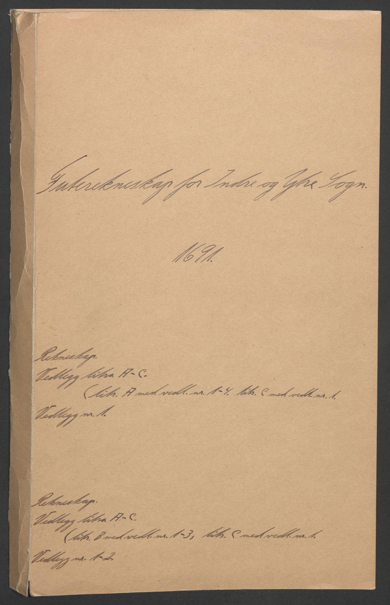 RA, Rentekammeret inntil 1814, Reviderte regnskaper, Fogderegnskap, R52/L3306: Fogderegnskap Sogn, 1691-1692, s. 2