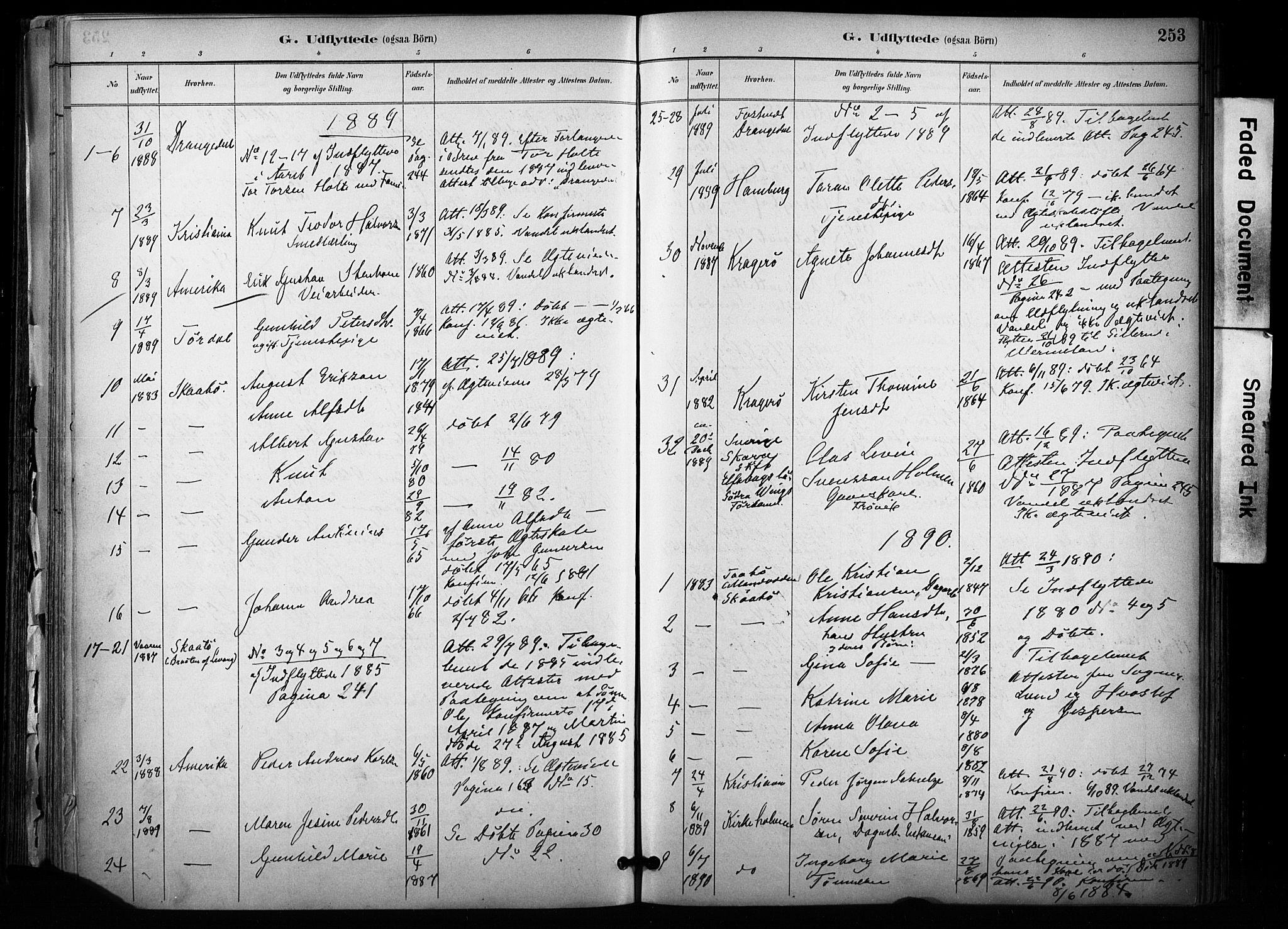 SAKO, Sannidal kirkebøker, F/Fa/L0015: Ministerialbok nr. 15, 1884-1899, s. 253