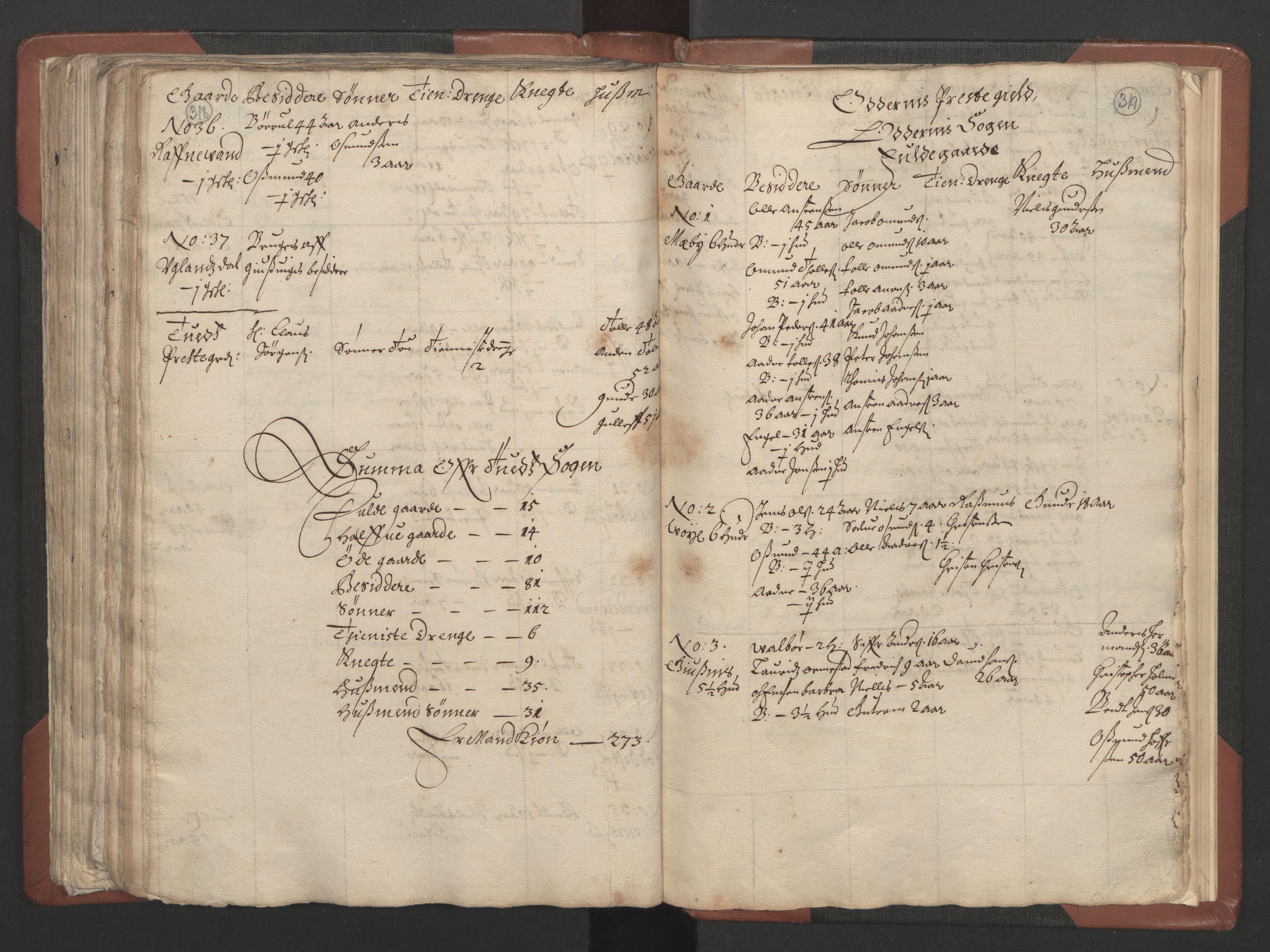 RA, Fogdenes og sorenskrivernes manntall 1664-1666, nr. 9: Mandal len, 1664-1666, s. 318-319