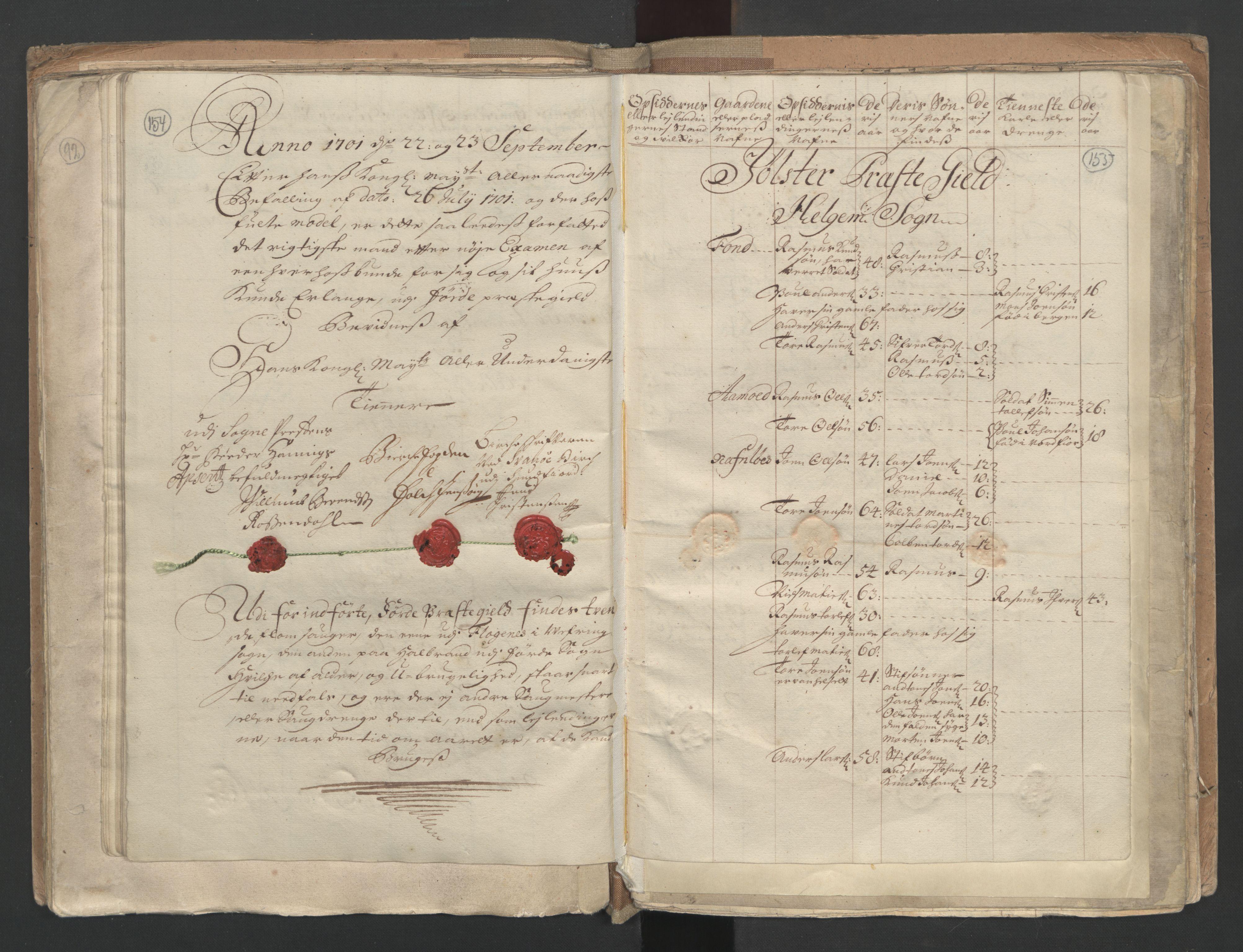 RA, Manntallet 1701, nr. 9: Sunnfjord fogderi, Nordfjord fogderi og Svanø birk, 1701, s. 154-155