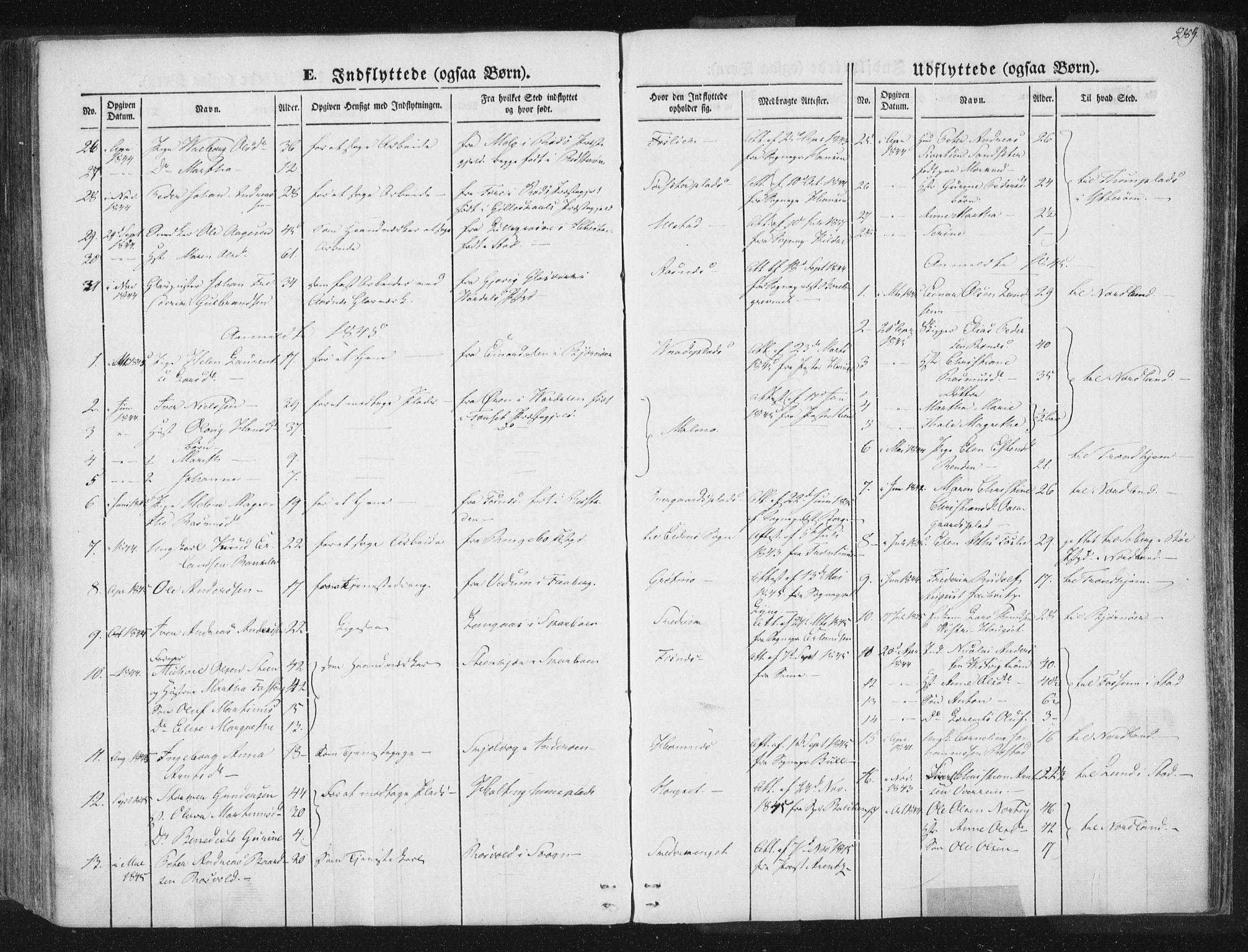 SAT, Ministerialprotokoller, klokkerbøker og fødselsregistre - Nord-Trøndelag, 741/L0392: Ministerialbok nr. 741A06, 1836-1848, s. 289