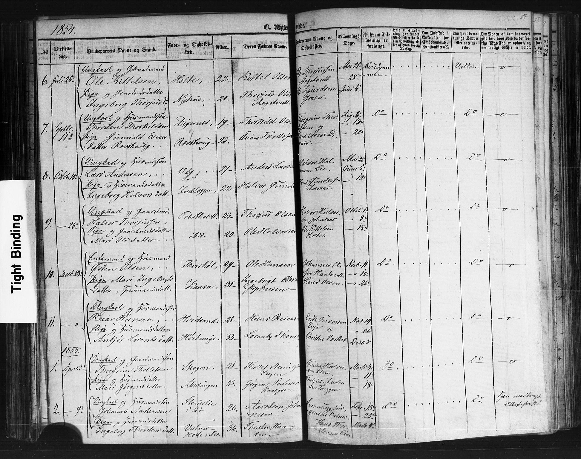 SAKO, Sauherad kirkebøker, F/Fb/L0001: Ministerialbok nr. II 1, 1851-1877, s. 114