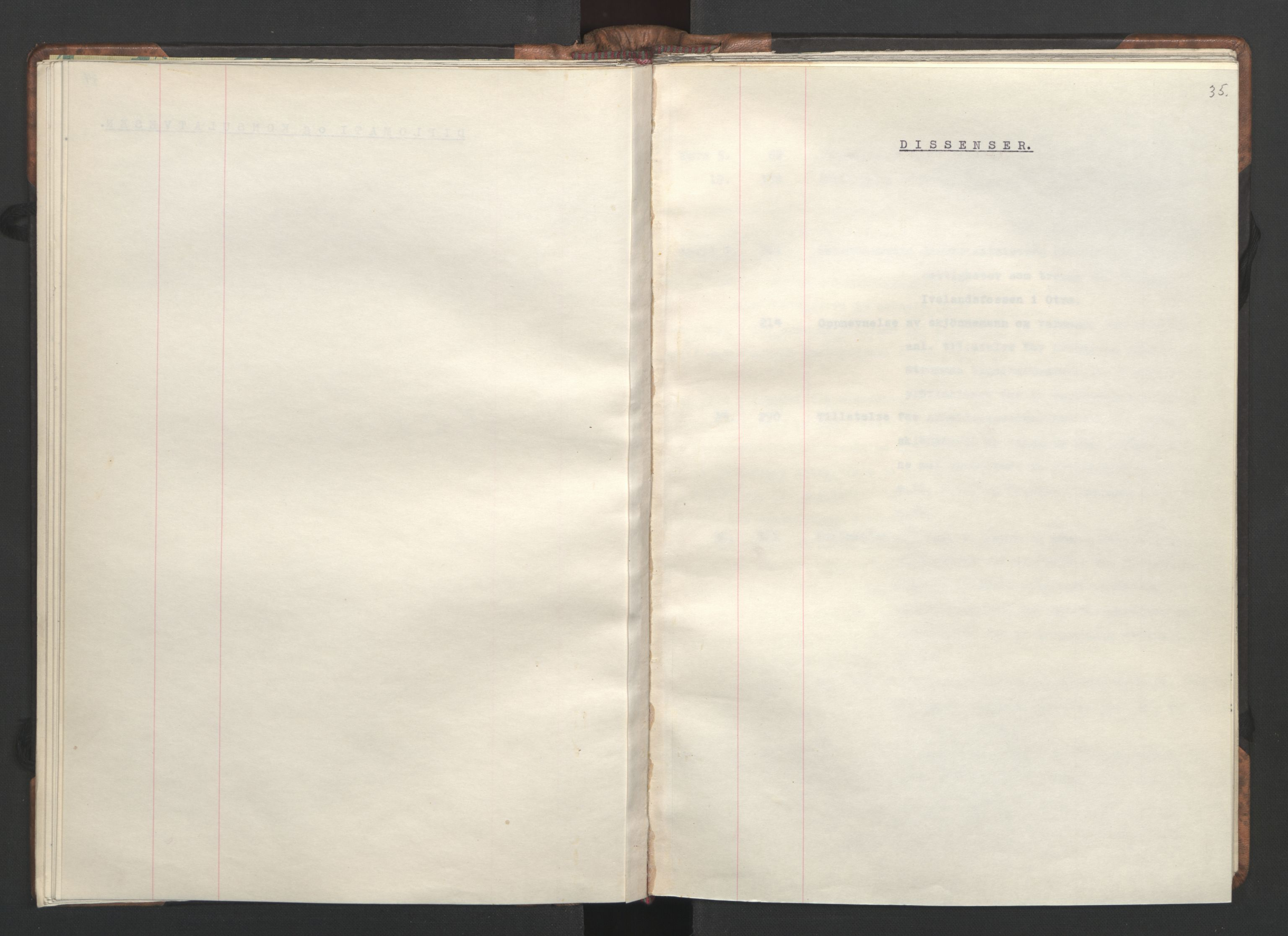 RA, NS-administrasjonen 1940-1945 (Statsrådsekretariatet, de kommisariske statsråder mm), D/Da/L0002: Register (RA j.nr. 985/1943, tilgangsnr. 17/1943), 1942, s. 34b-35a