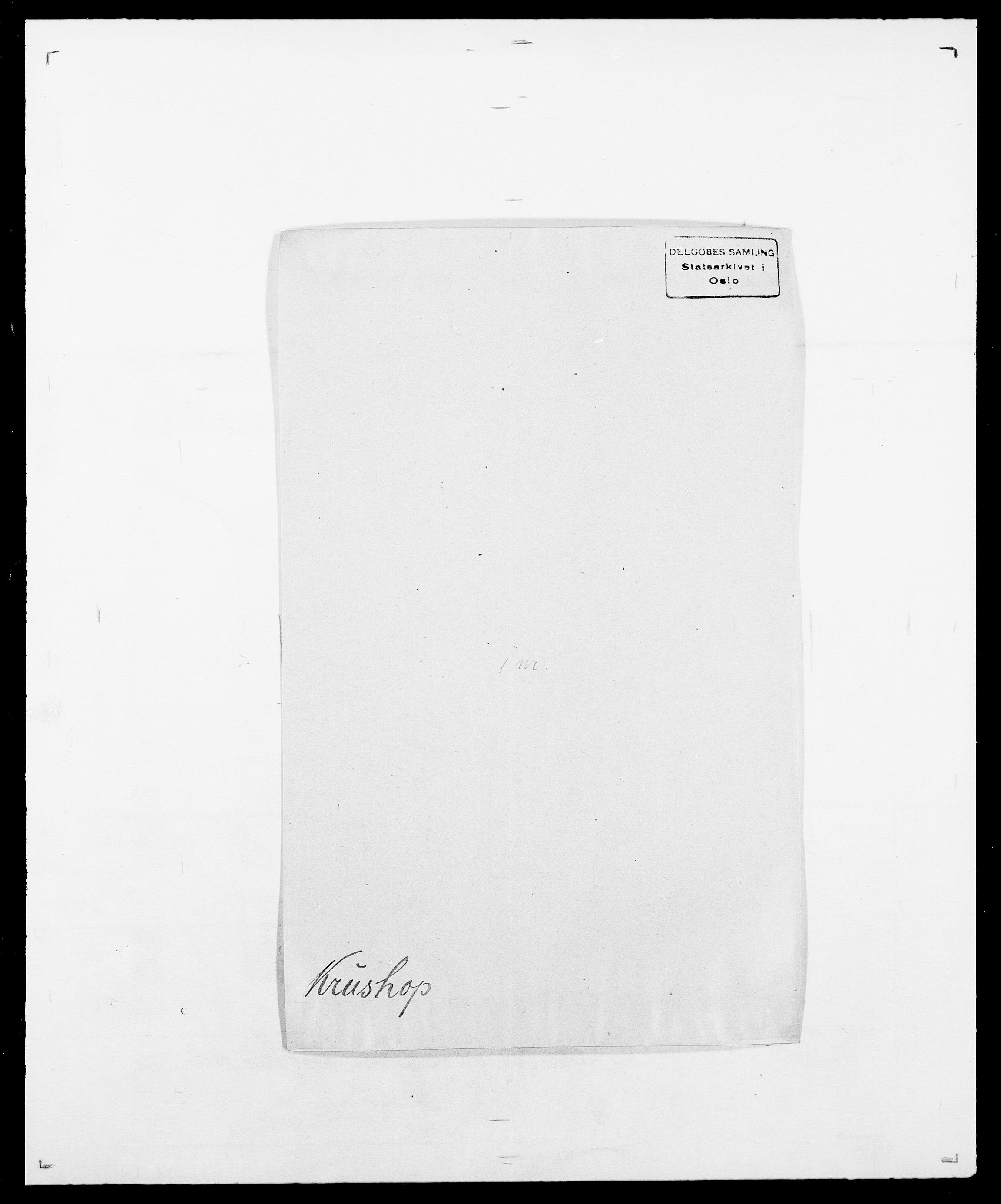 SAO, Delgobe, Charles Antoine - samling, D/Da/L0022: Krog - Lasteen, s. 172